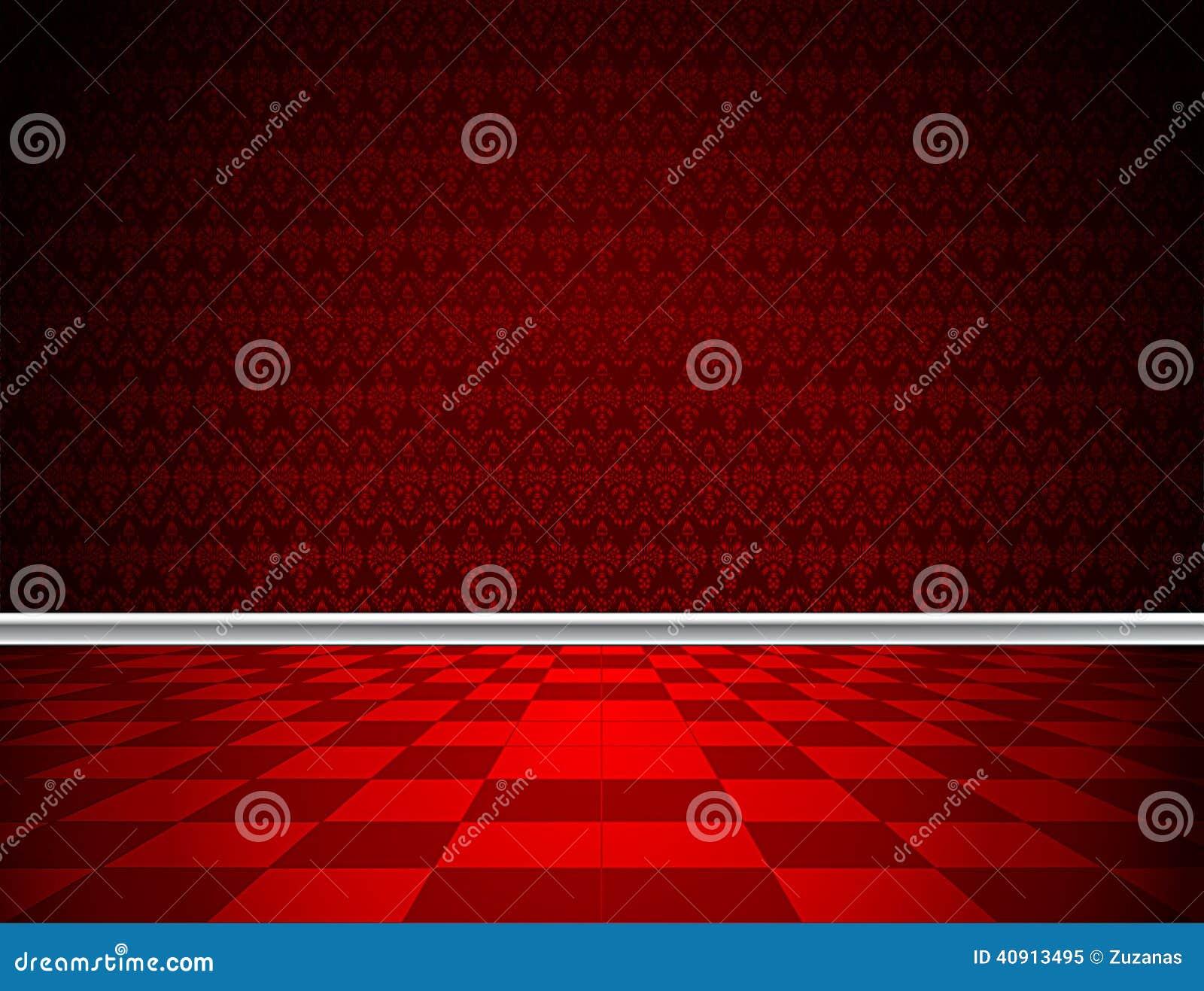 Roter boden tapete und formteil stock abbildung bild - Rote tapete ...