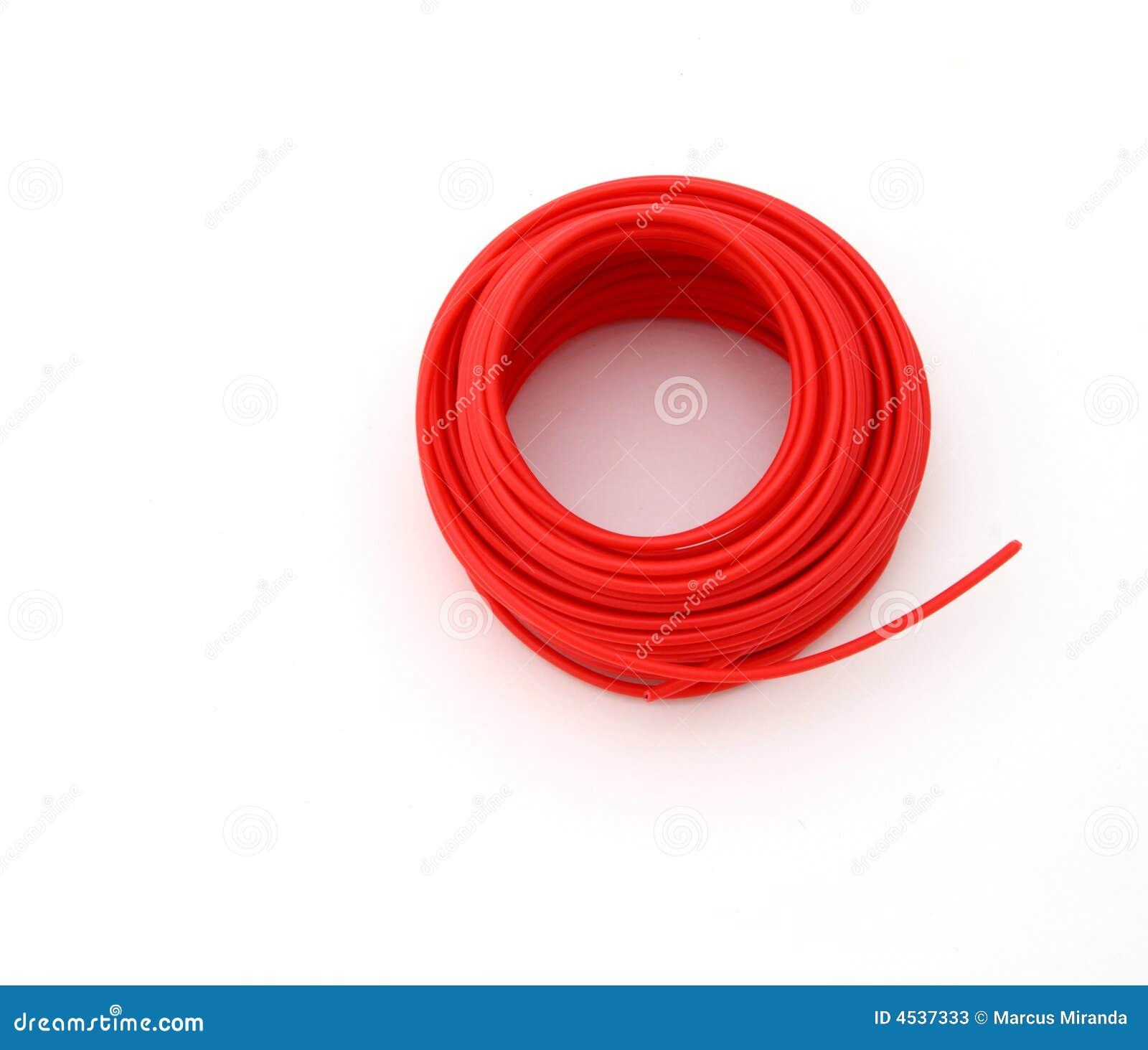 Roter Draht stockbild. Bild von boden, draht, wunde, weiß - 4537333