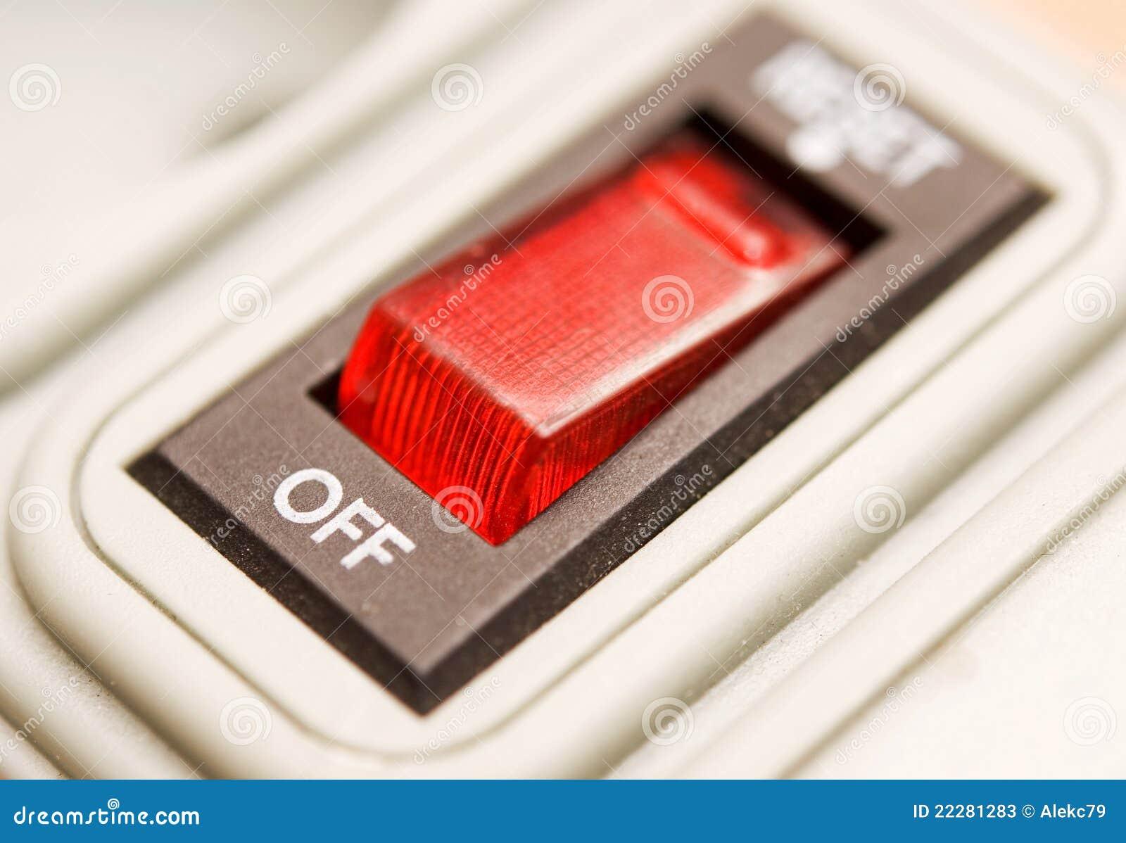 Roter Elektrischer Schalter Stockbild - Bild von einheit, anschlag ...
