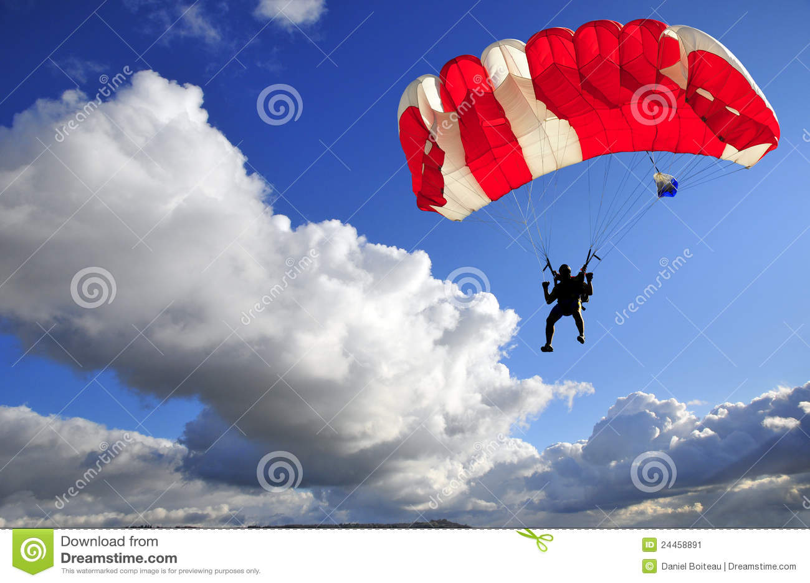 Roter Fallschirm