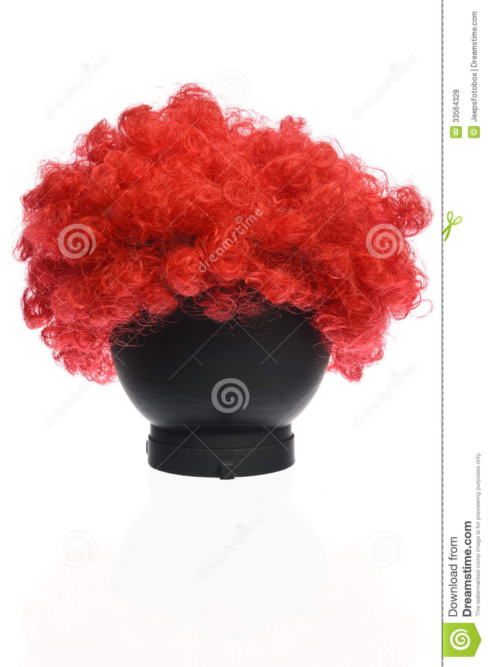 Roter gelockter Clown Wig