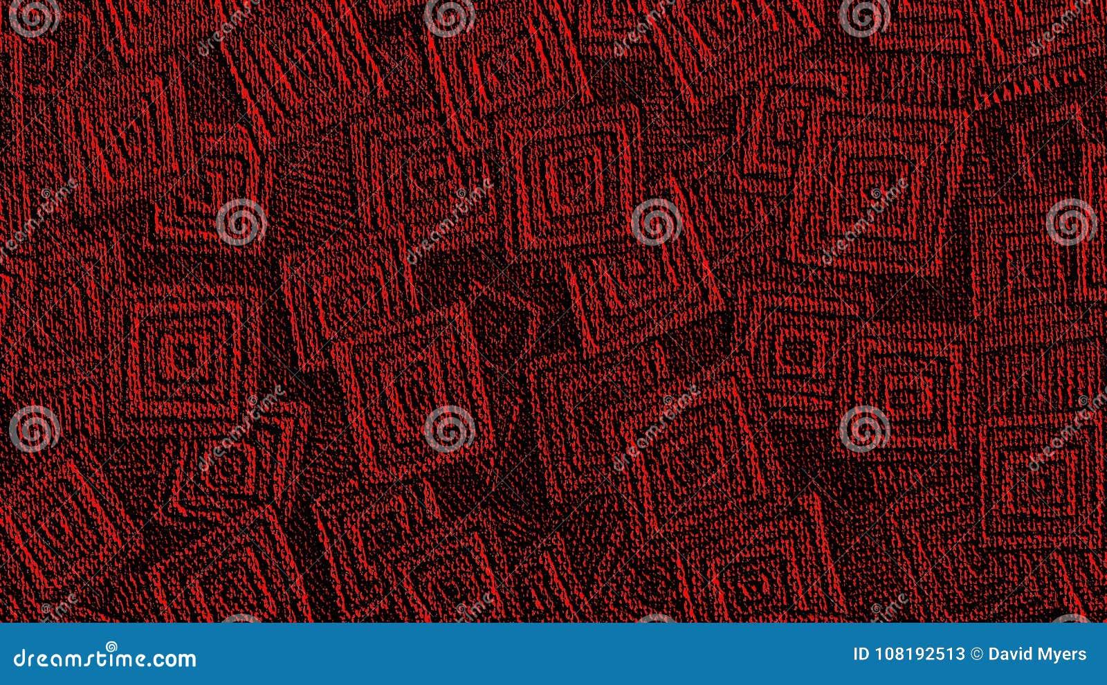 Roter geometrischer Muster Youtube-Kanal Art Banner