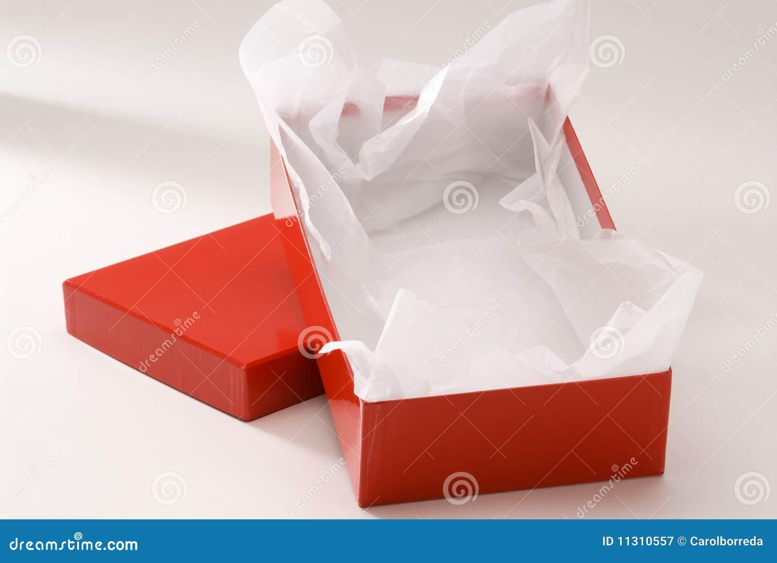 Roter Geschenkkasten.