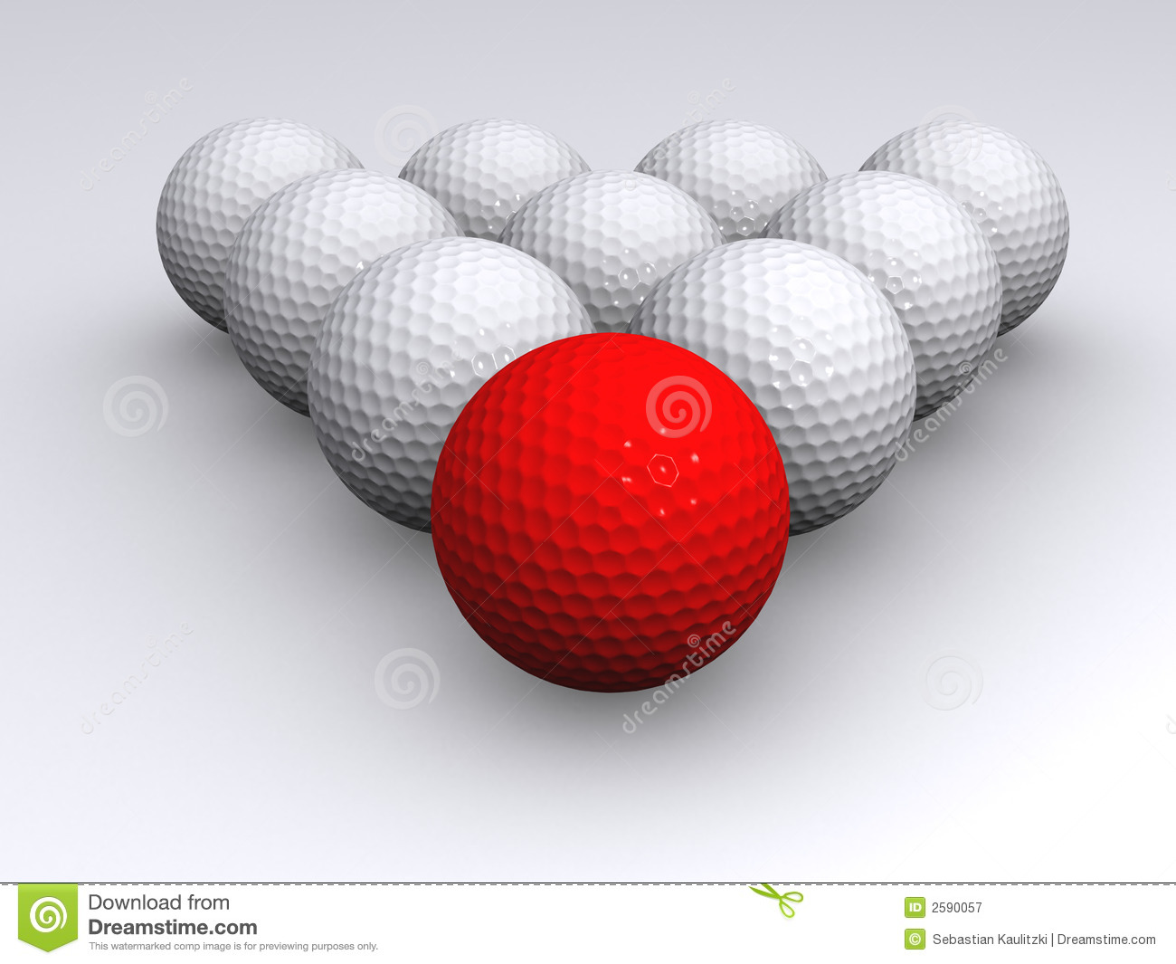 Roter Golfball