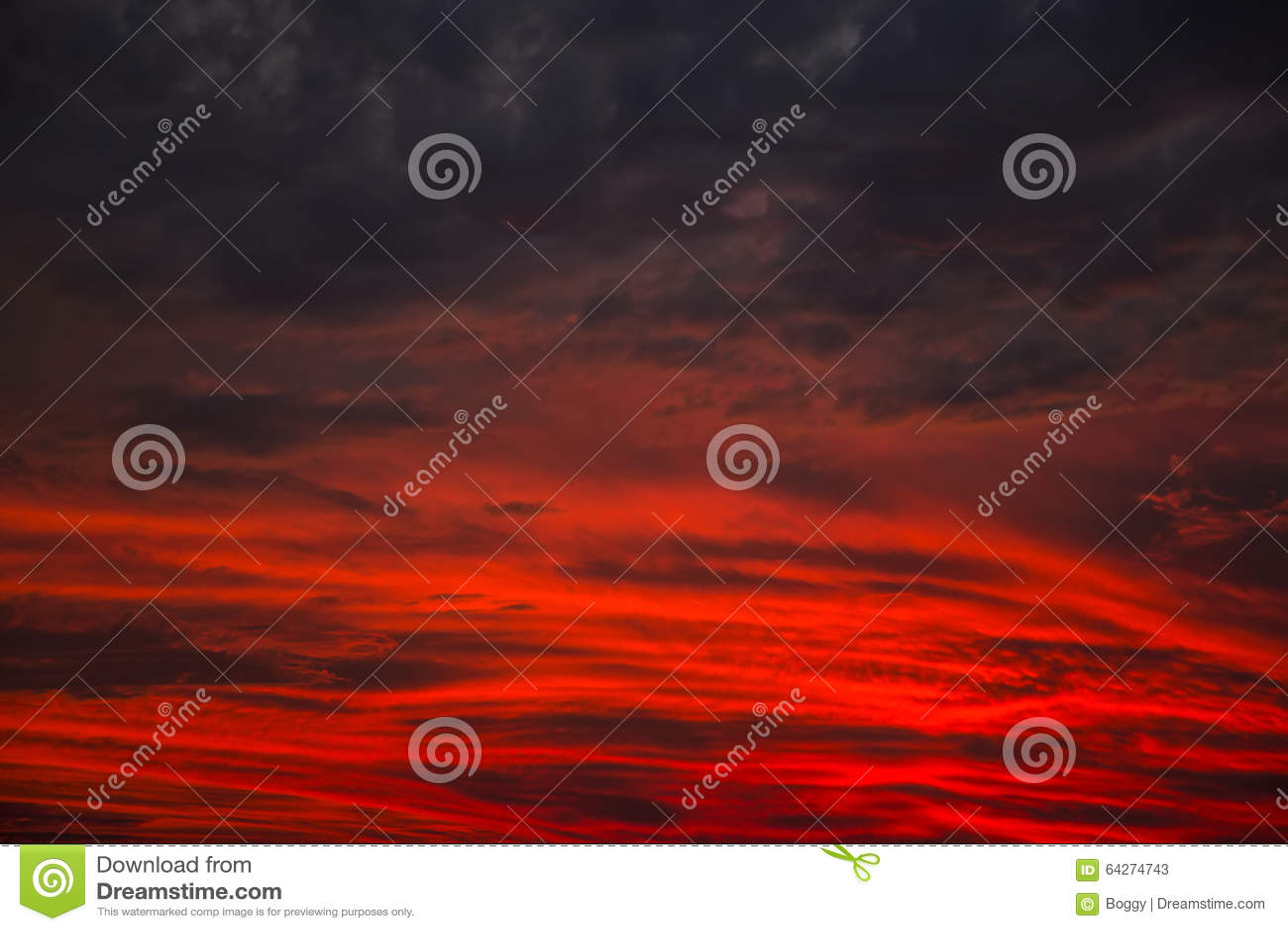 Roter Himmel Nachts