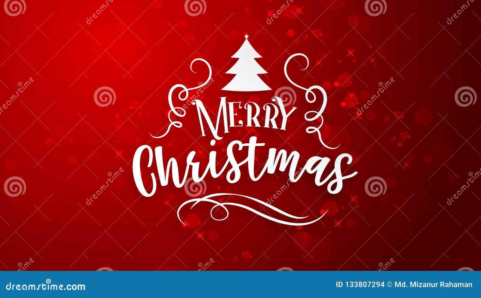 Roter Hintergrund mit Gruß der frohen Weihnachten