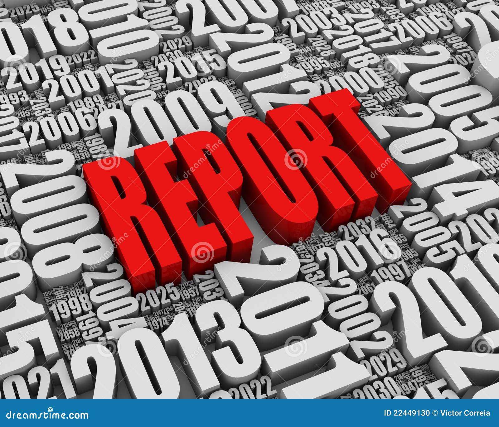 Roter jährlicher Bericht