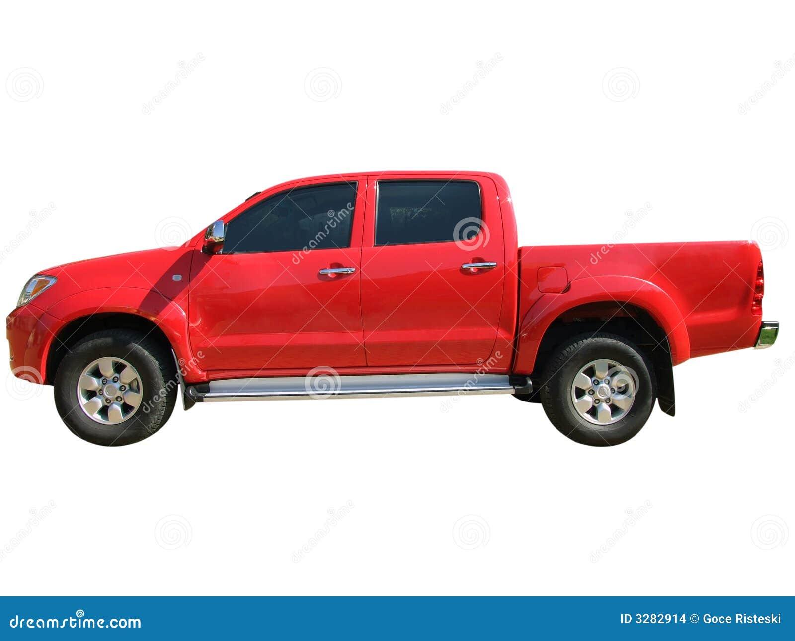 Roter Kleintransporter
