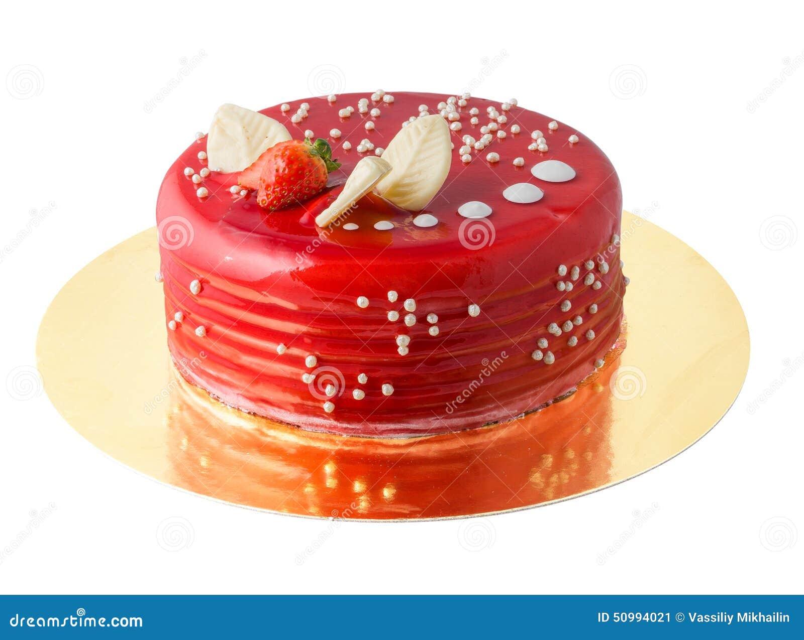 Roter Kuchen Stockbild Bild Von Suss Geback Nachtisch 50994021