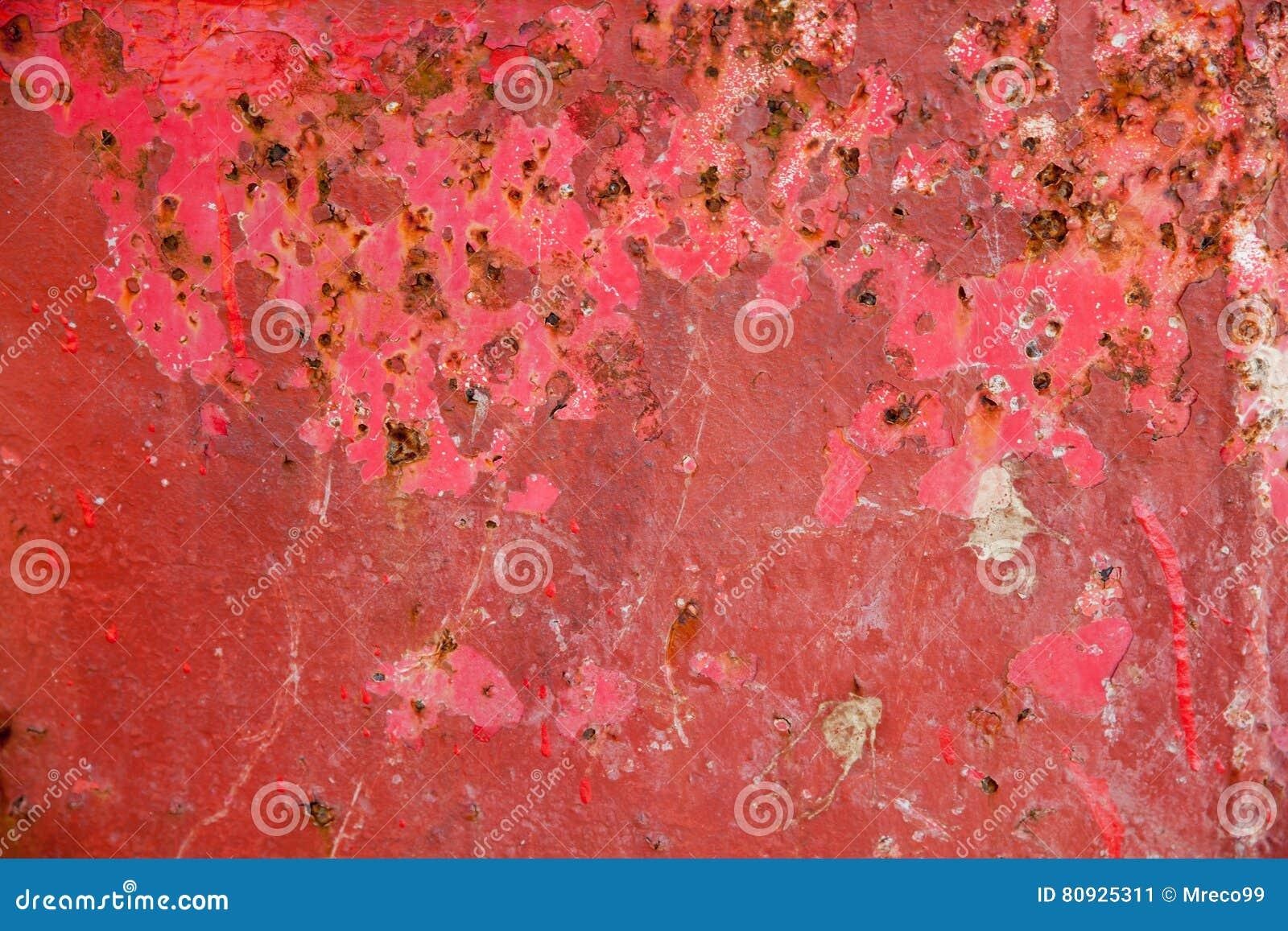 Roter Metallschmutzhintergrund