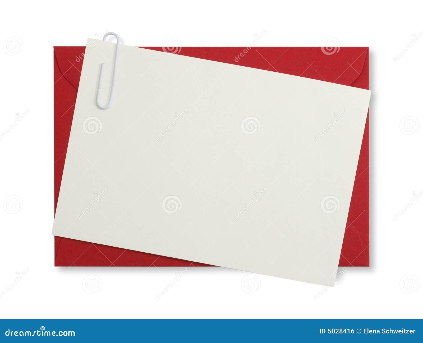 Roter Papierumschlag
