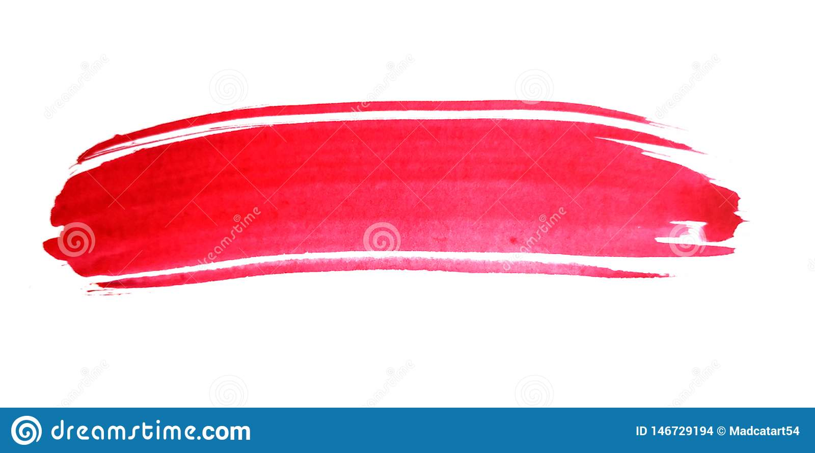 Roter Pinselstrich des Aquarells