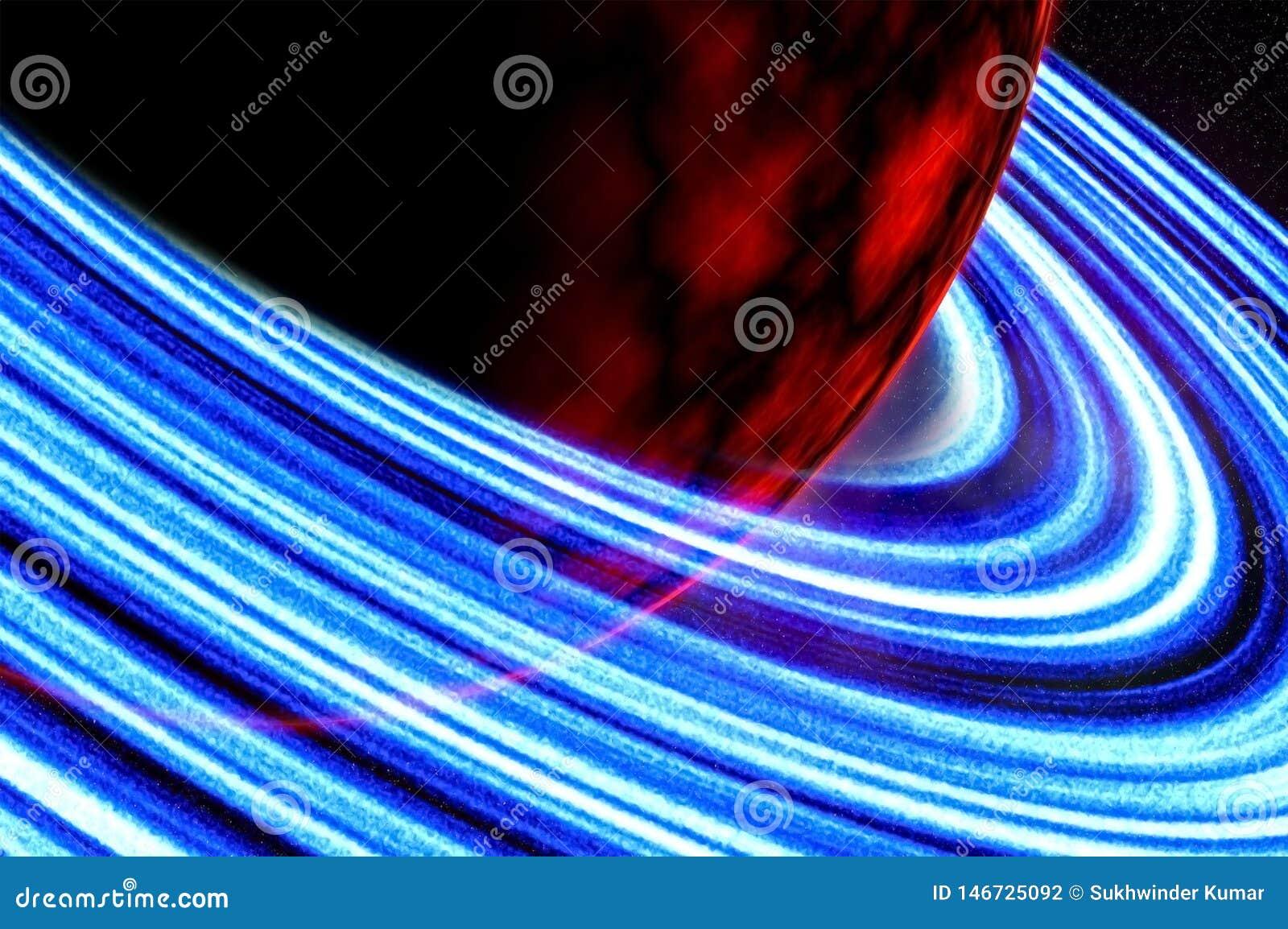 Roter Planet oder beschädigt nahe Ansicht des Bildes