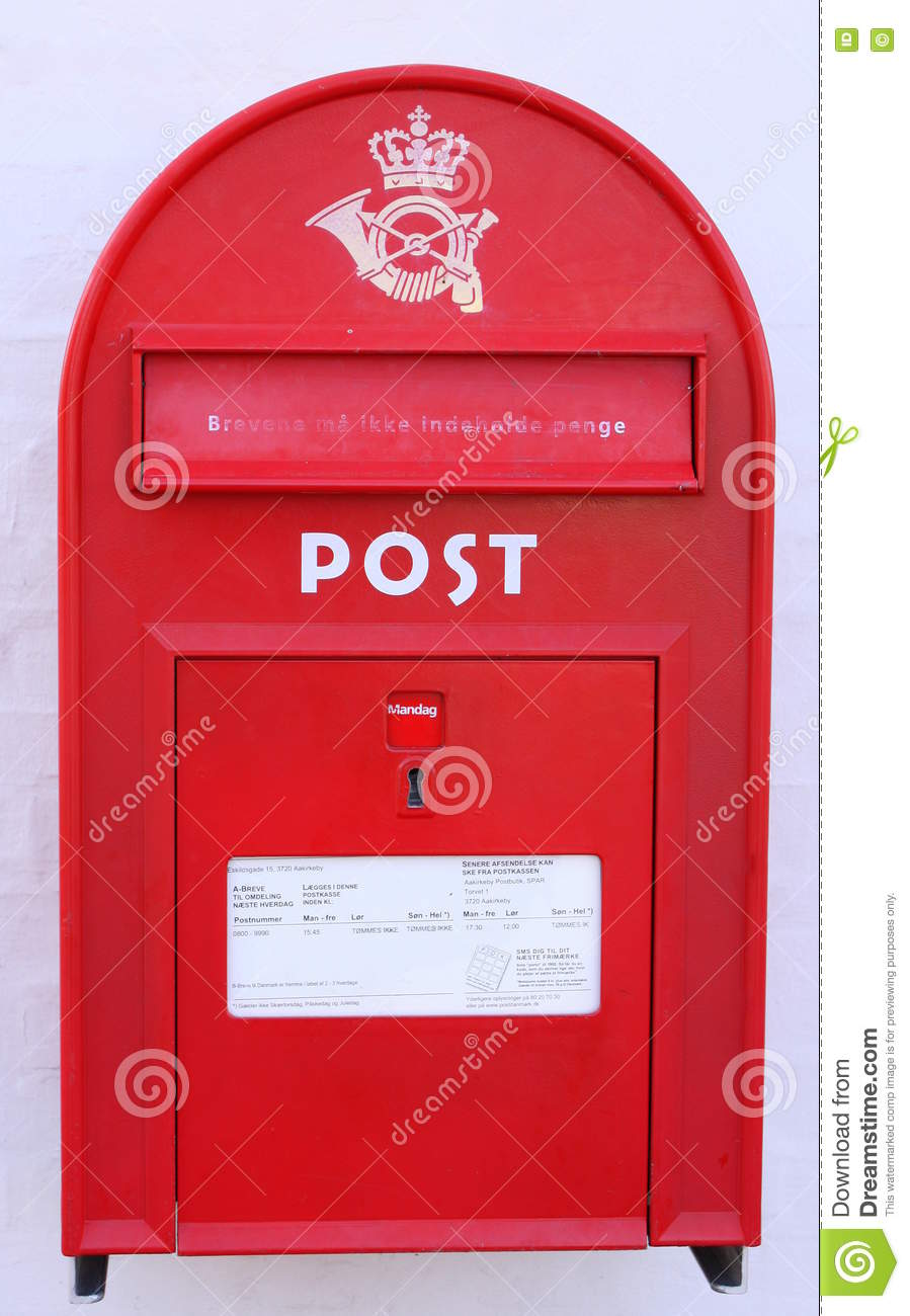 Roter Postbox