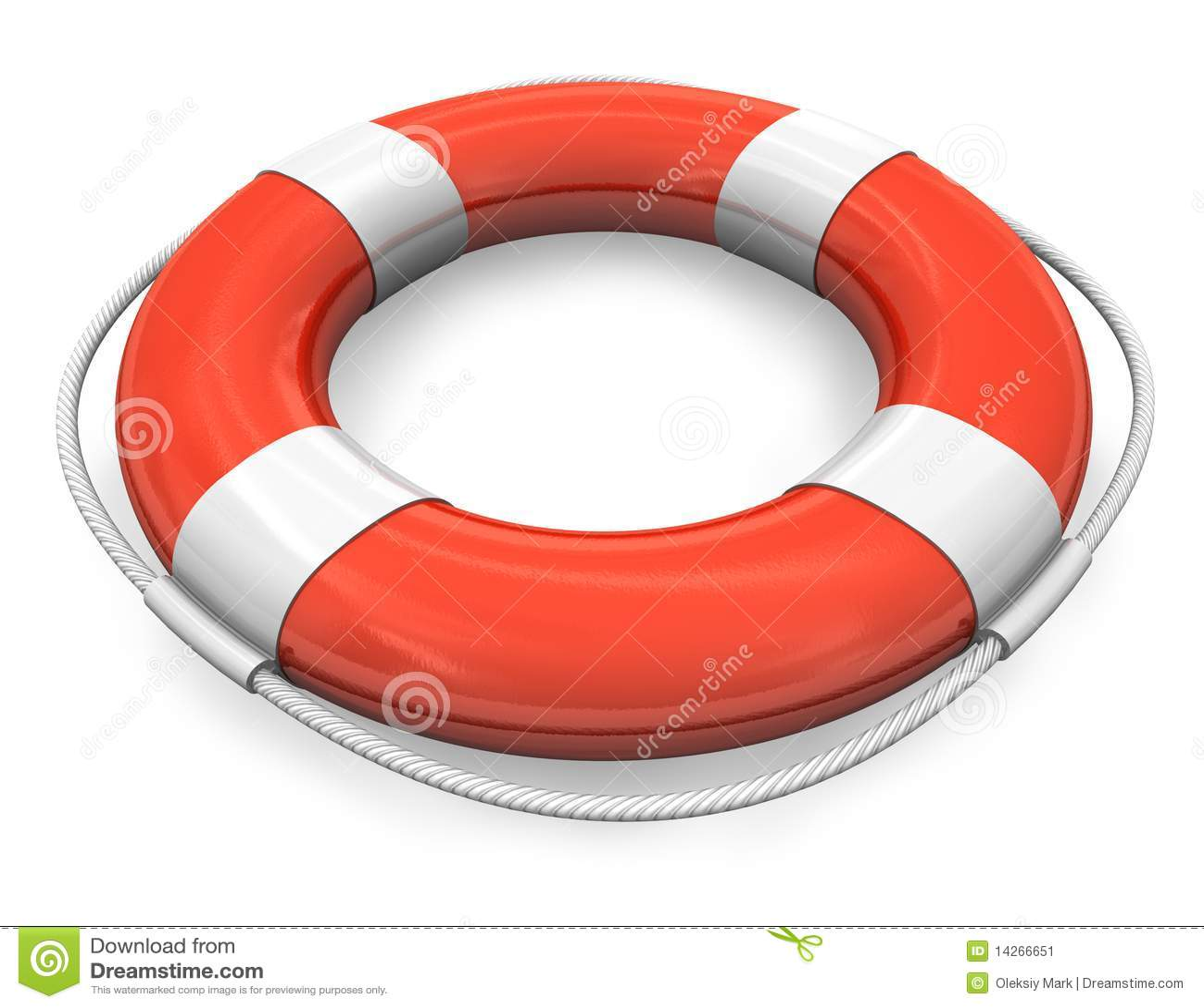 Roter Rettungsgürtel