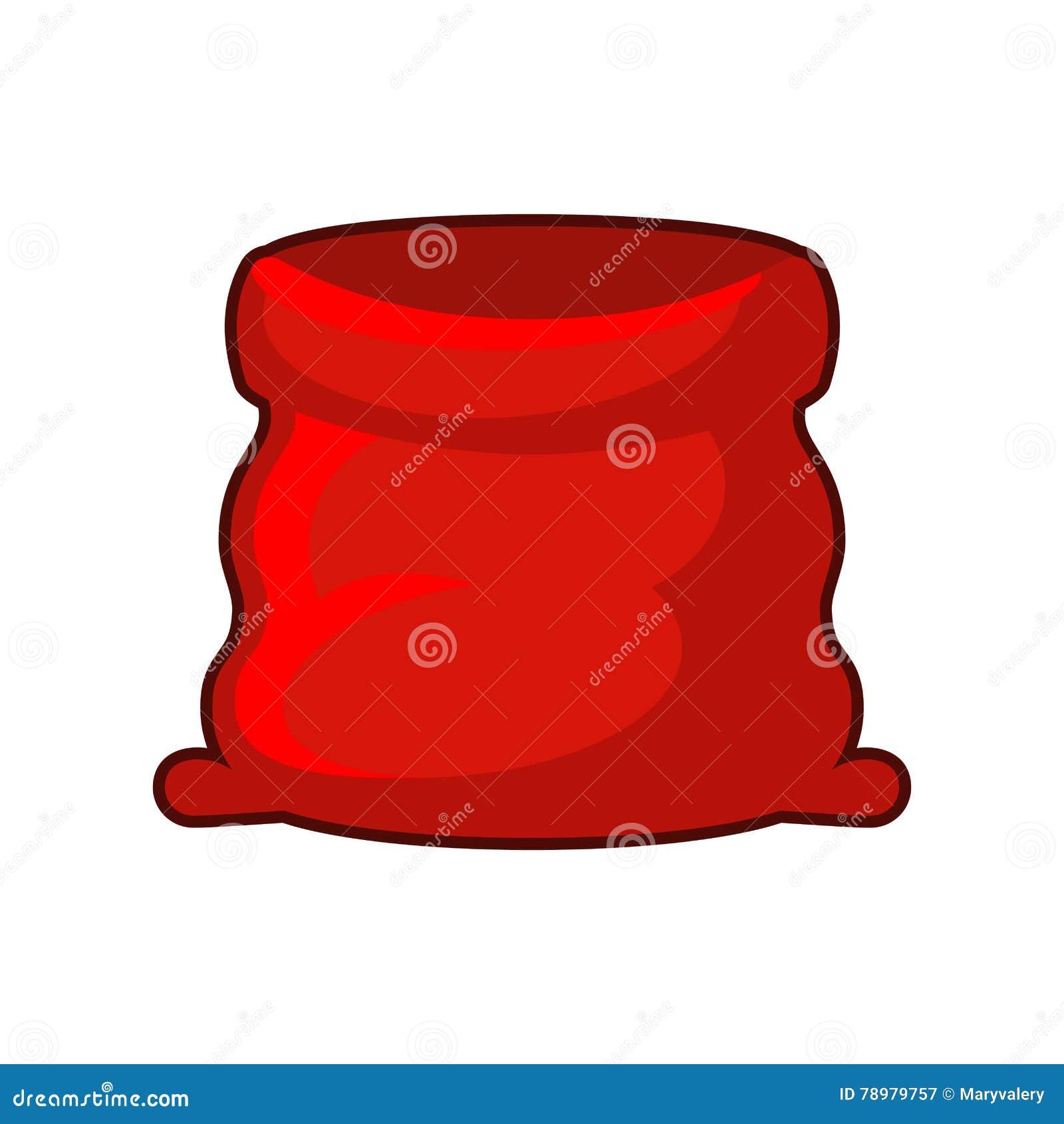 Roter Sack Von Weihnachtsmann Große Offene Tasche Für ...
