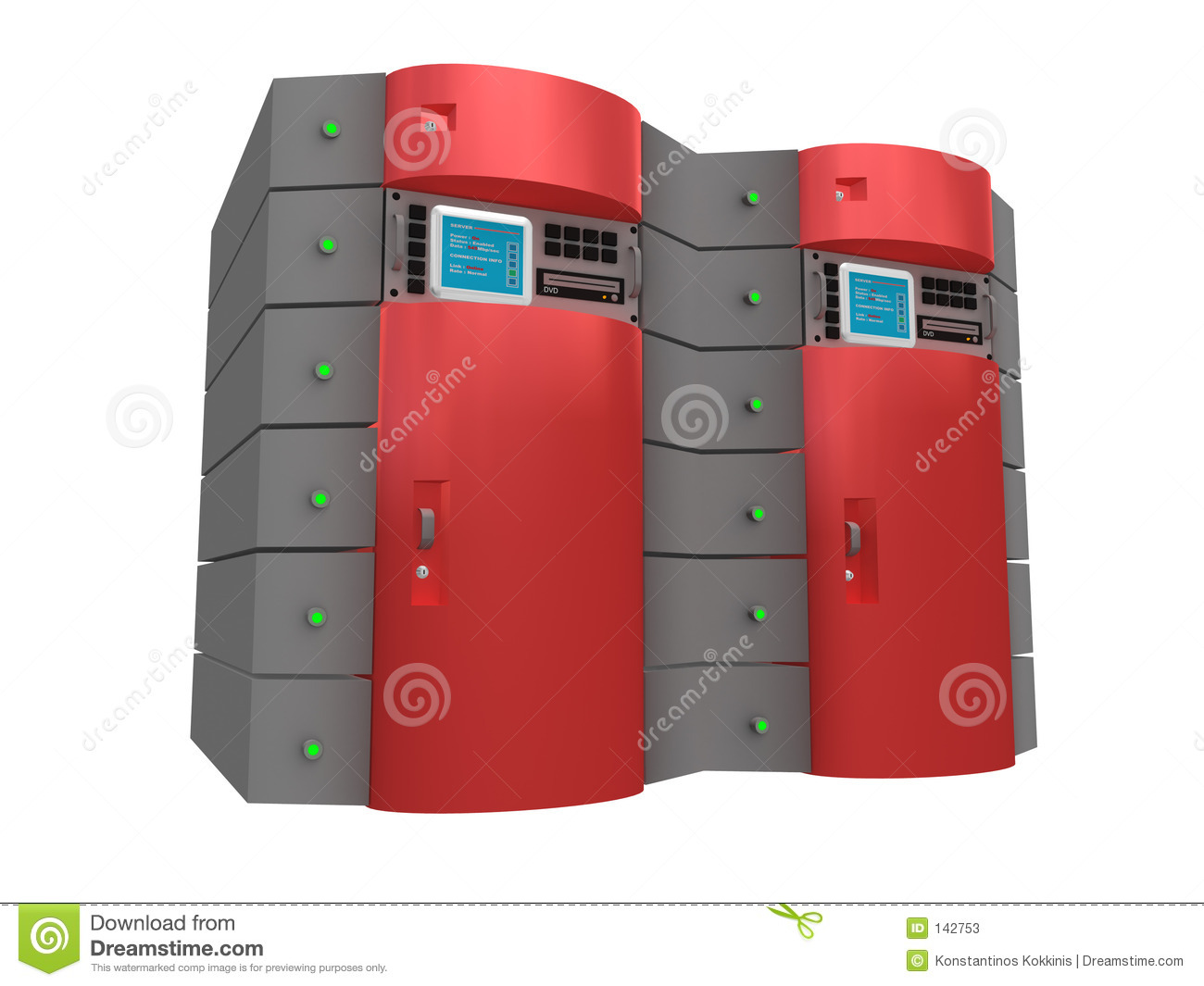 Roter Server 3d
