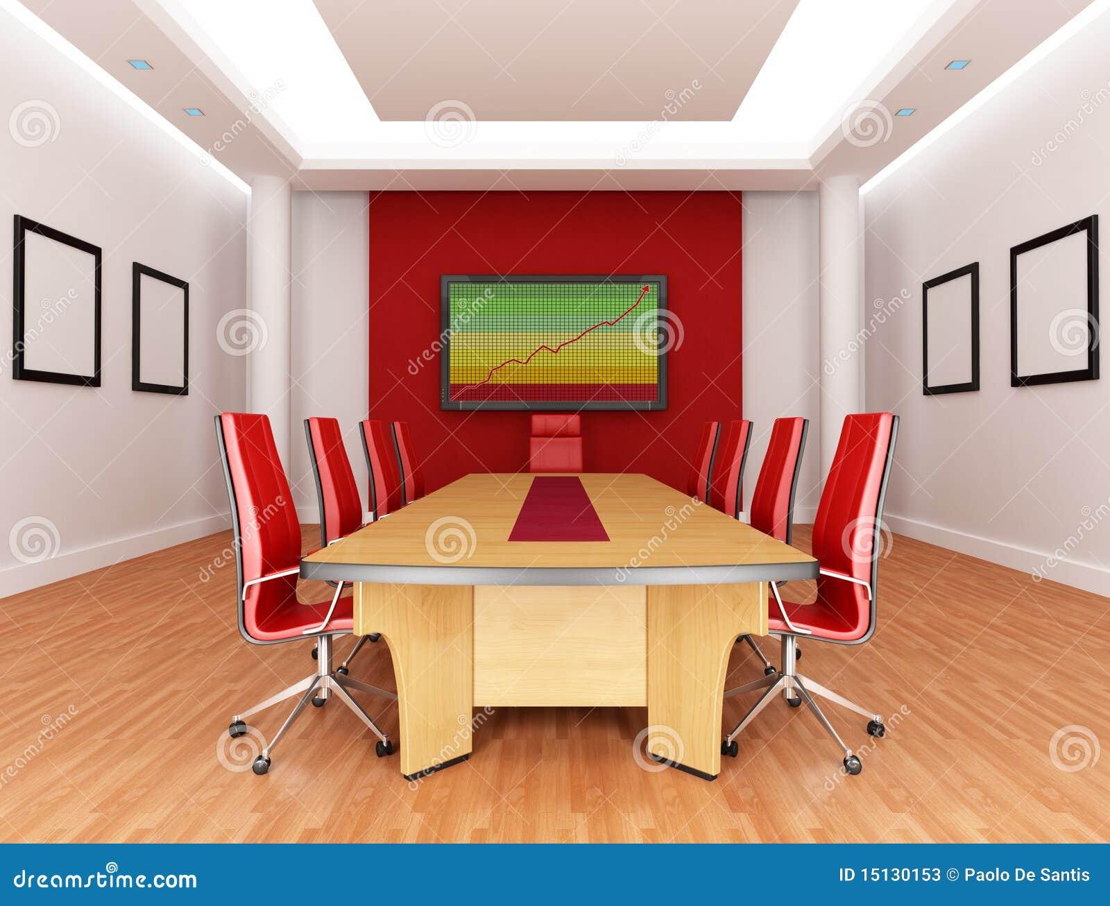 roter sitzungssaal stock abbildung illustration von. Black Bedroom Furniture Sets. Home Design Ideas