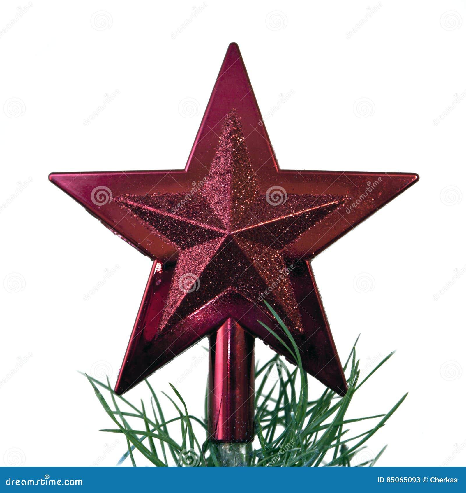 Stern Auf Weihnachtsbaum.Roter Stern Auf Weihnachtsbaum Stockbild Bild Von Sparkly