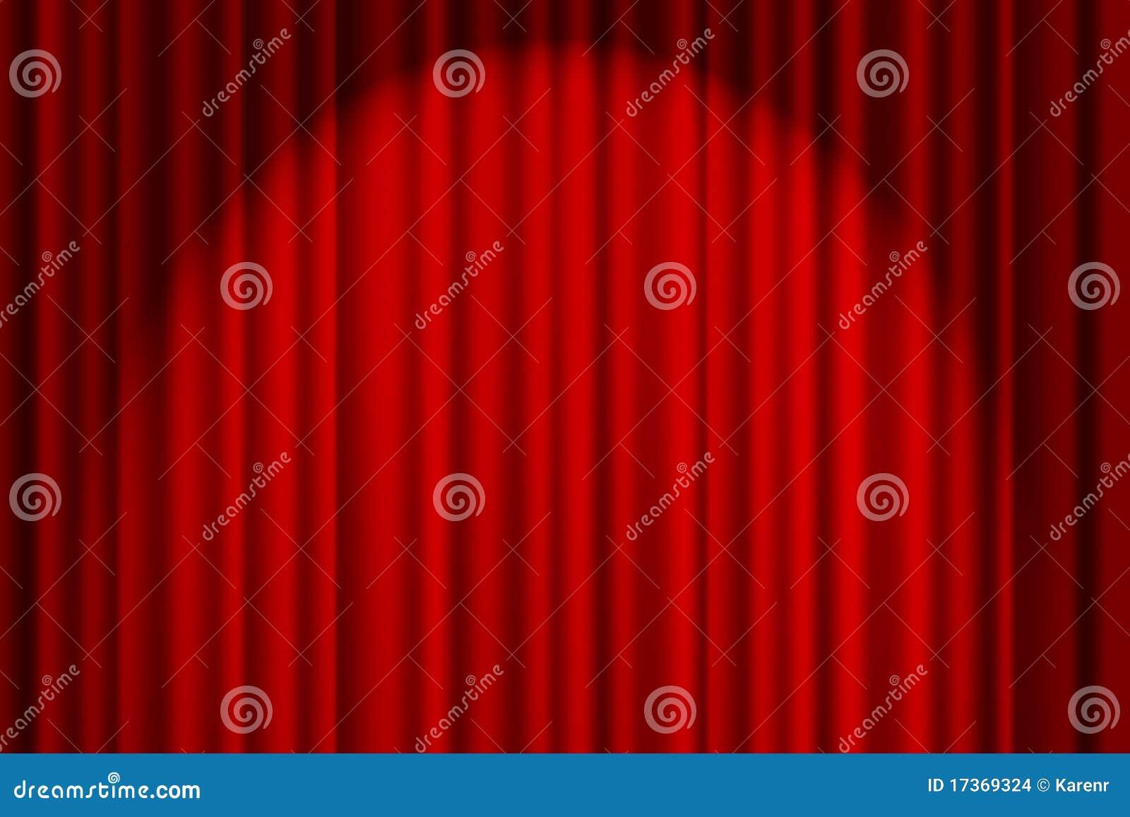 Roter Trennvorhang auf Stufe