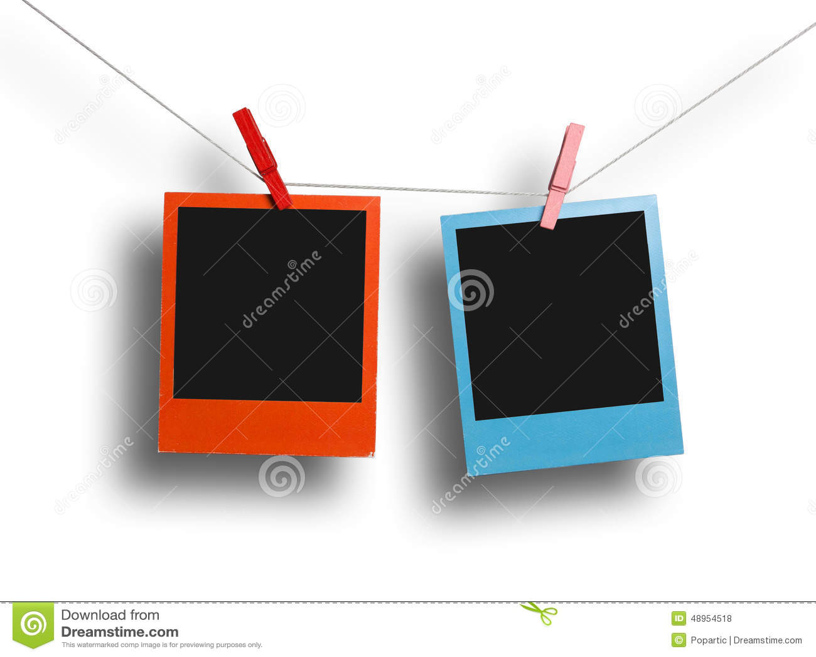 Roter Und Blauer Polaroidrahmen Stockfoto - Bild von foto, bild ...