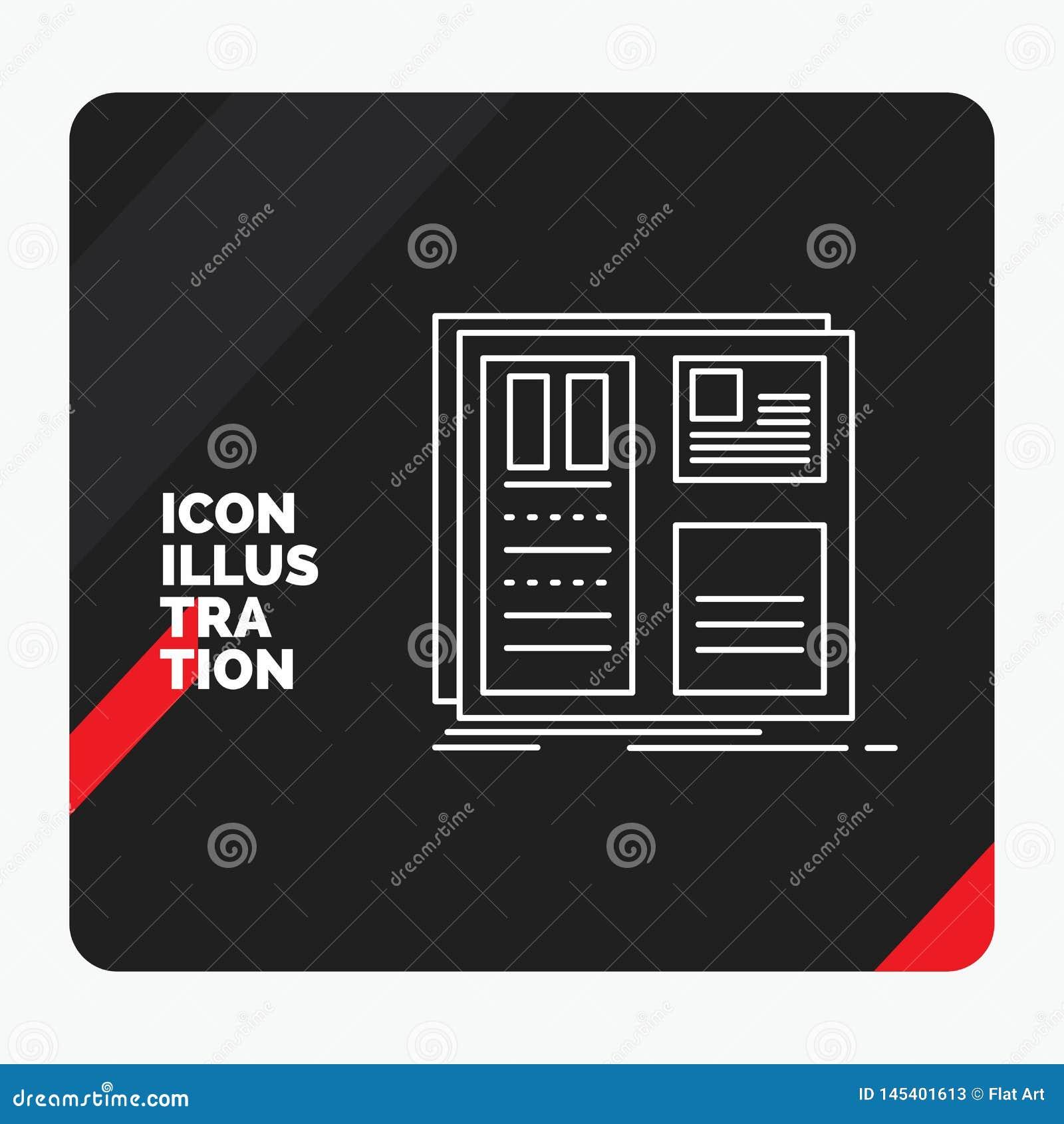 Roter und schwarzer kreativer Darstellung Hintergrund für Entwurf, Gitter, Schnittstelle, Plan, ui Linie Ikone