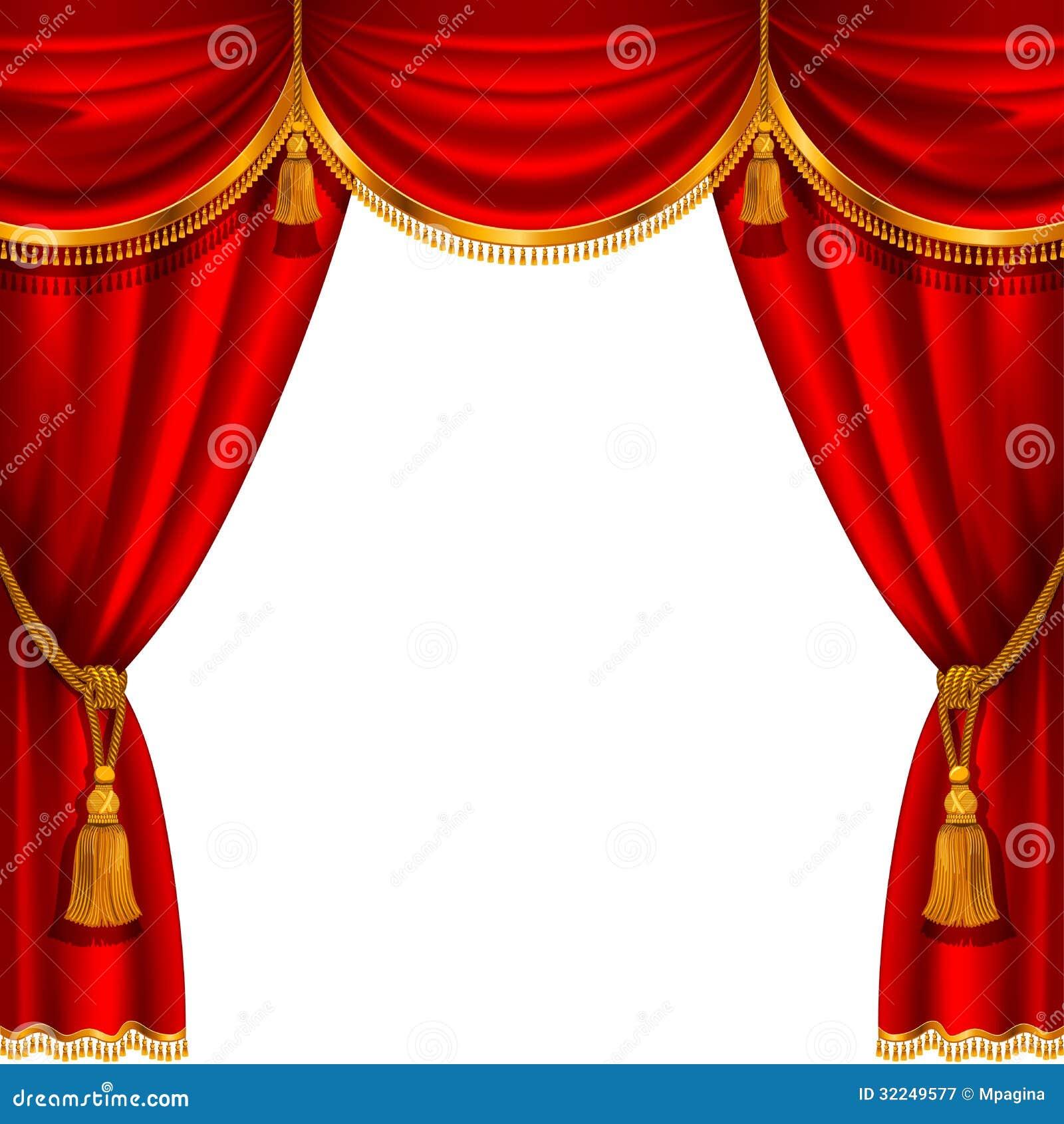 roter vorhang lizenzfreie stockfotografie bild 32249577. Black Bedroom Furniture Sets. Home Design Ideas