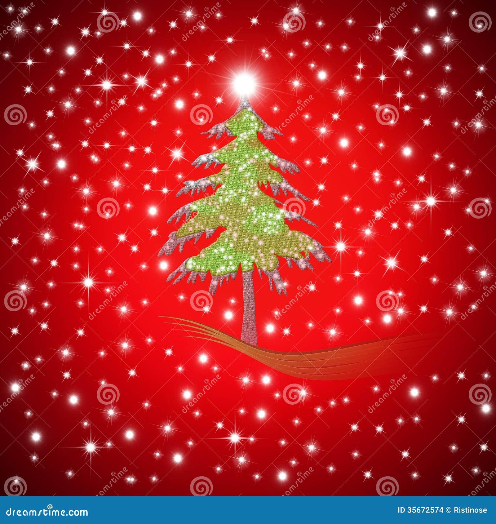 Weihnachtsgrüße Als Tannenbaum.Roter Weihnachtsgruß Tannenbaum Stock Abbildung Illustration Von