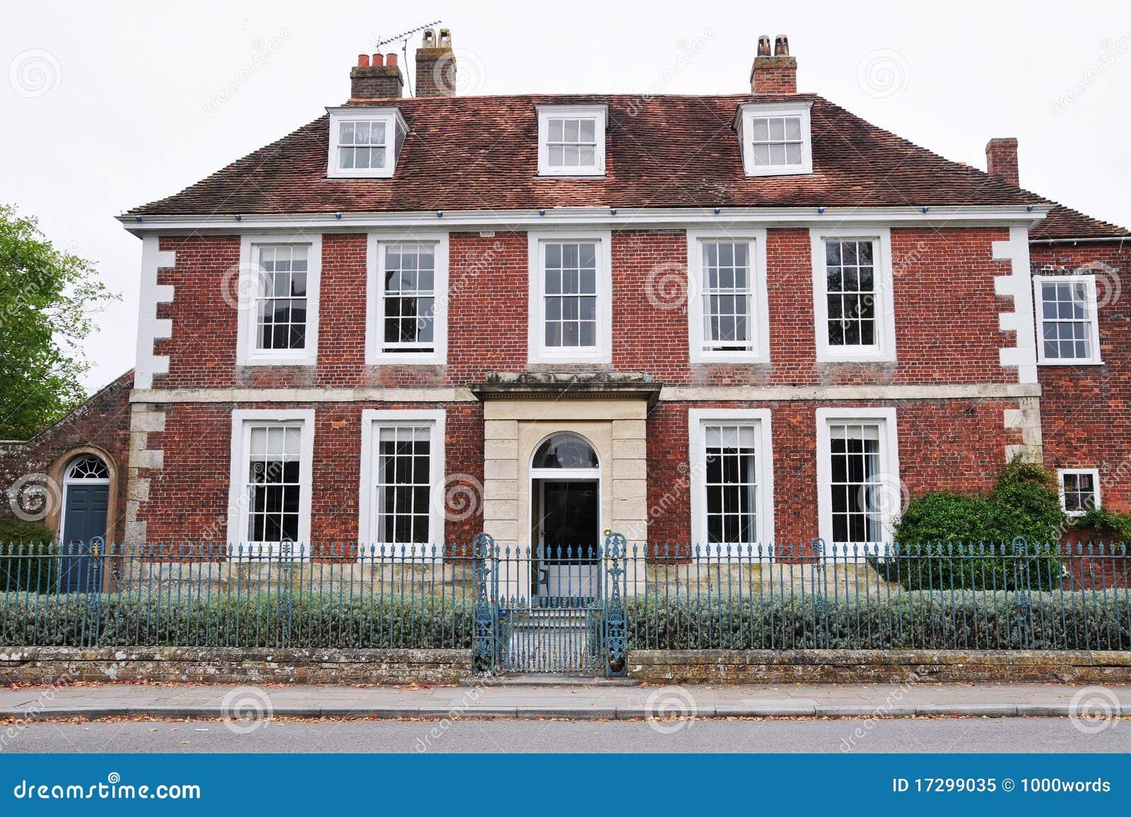 Roter Ziegelstein Haus Lizenzfreies Stockfoto Bild 17299035