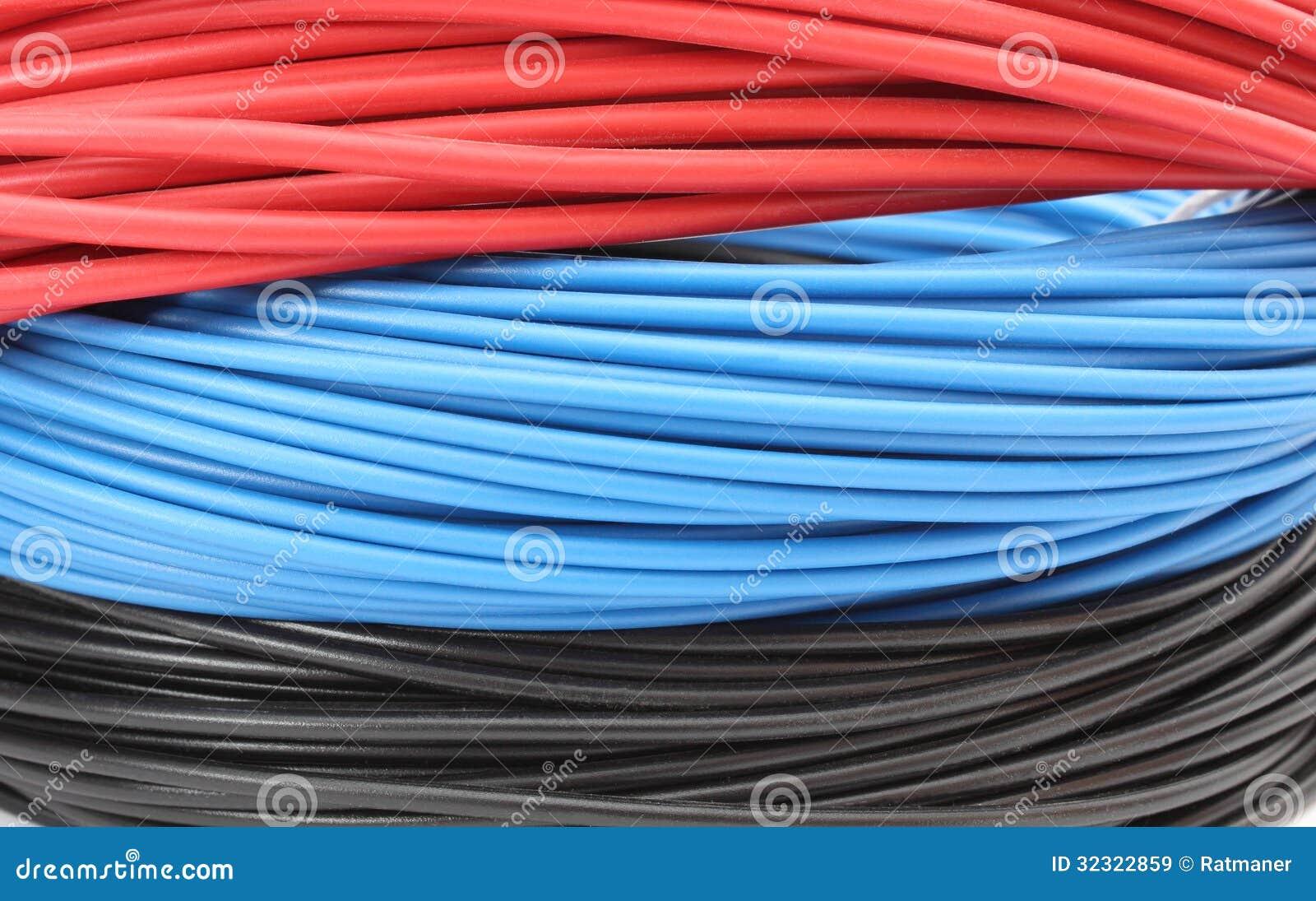 Berühmt Rote Und Weiße Elektrische Drähte Zeitgenössisch ...