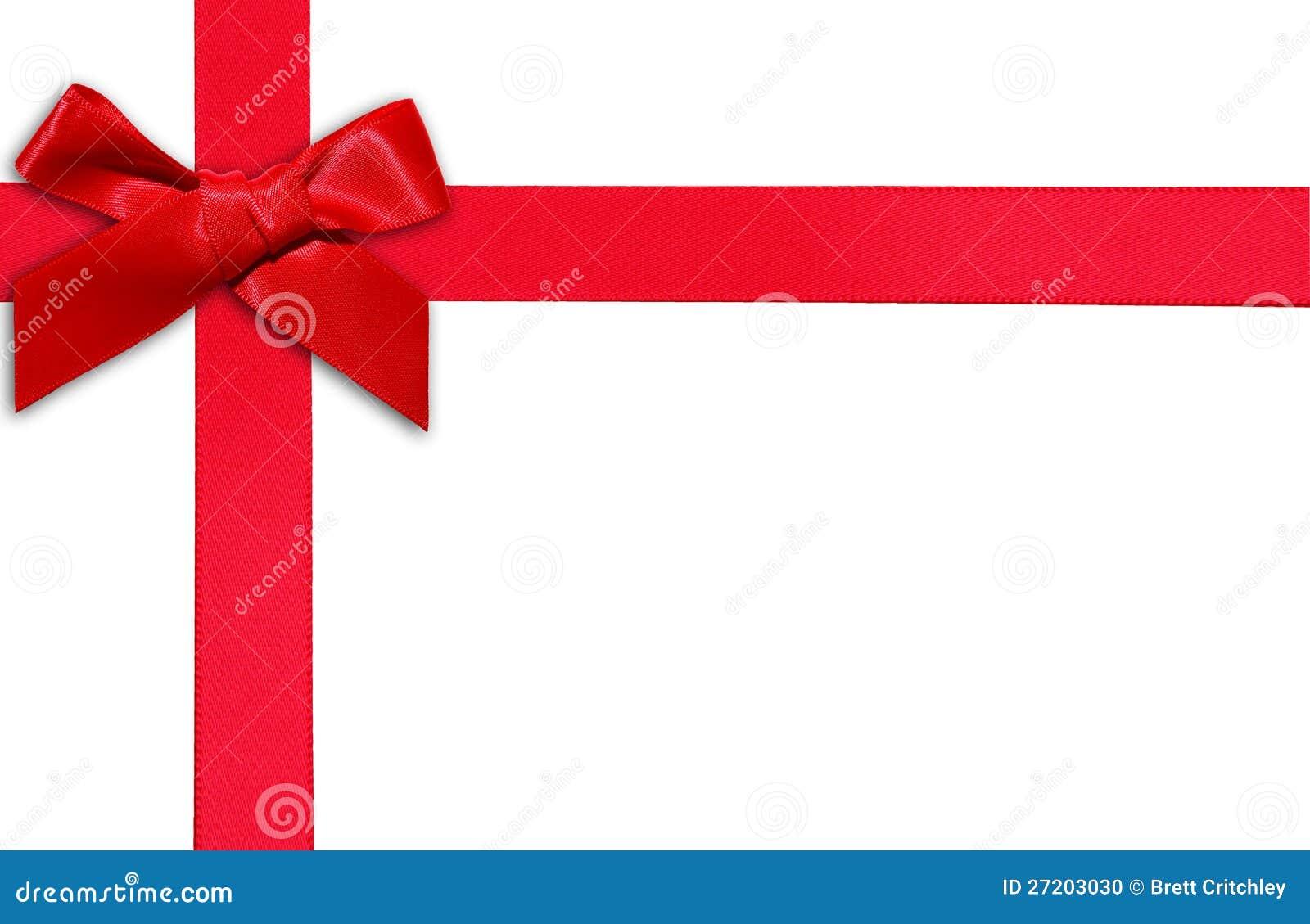 Rotes Geschenkfarbband und -bogen