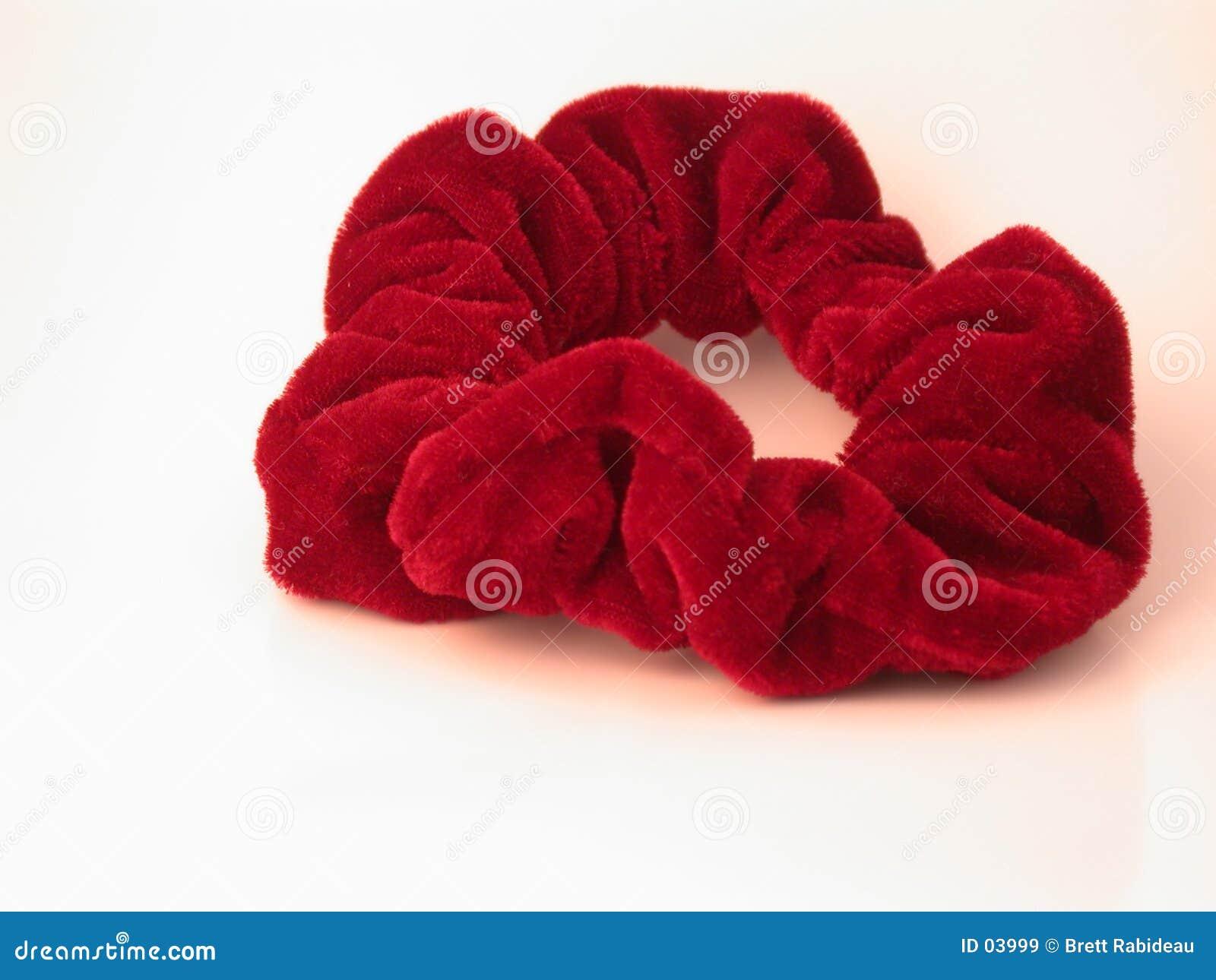 Rotes Haar Scrunchy