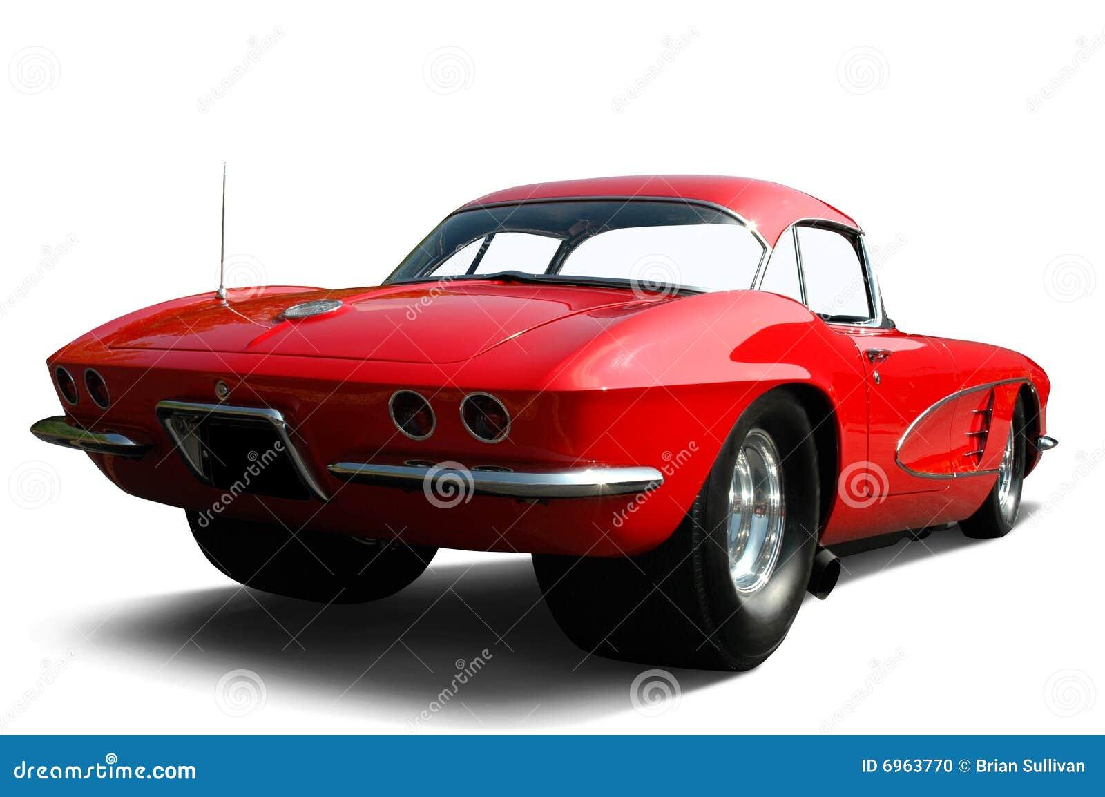 Rotes Korvette-Luftwiderstand-Auto