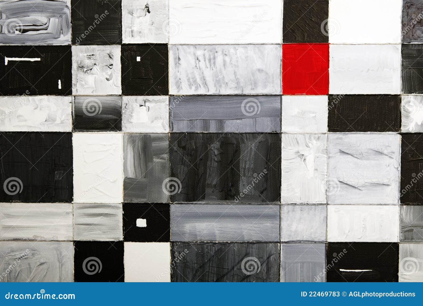 Rotes Quadrat unter Vierecken