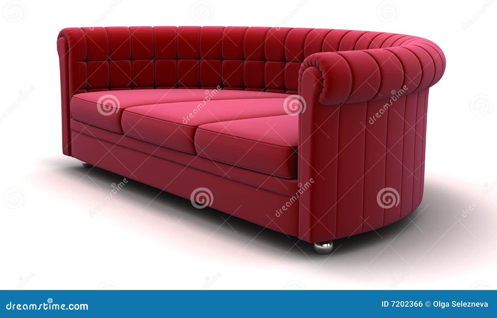 rotes sofa stock abbildung illustration von wohnung. Black Bedroom Furniture Sets. Home Design Ideas