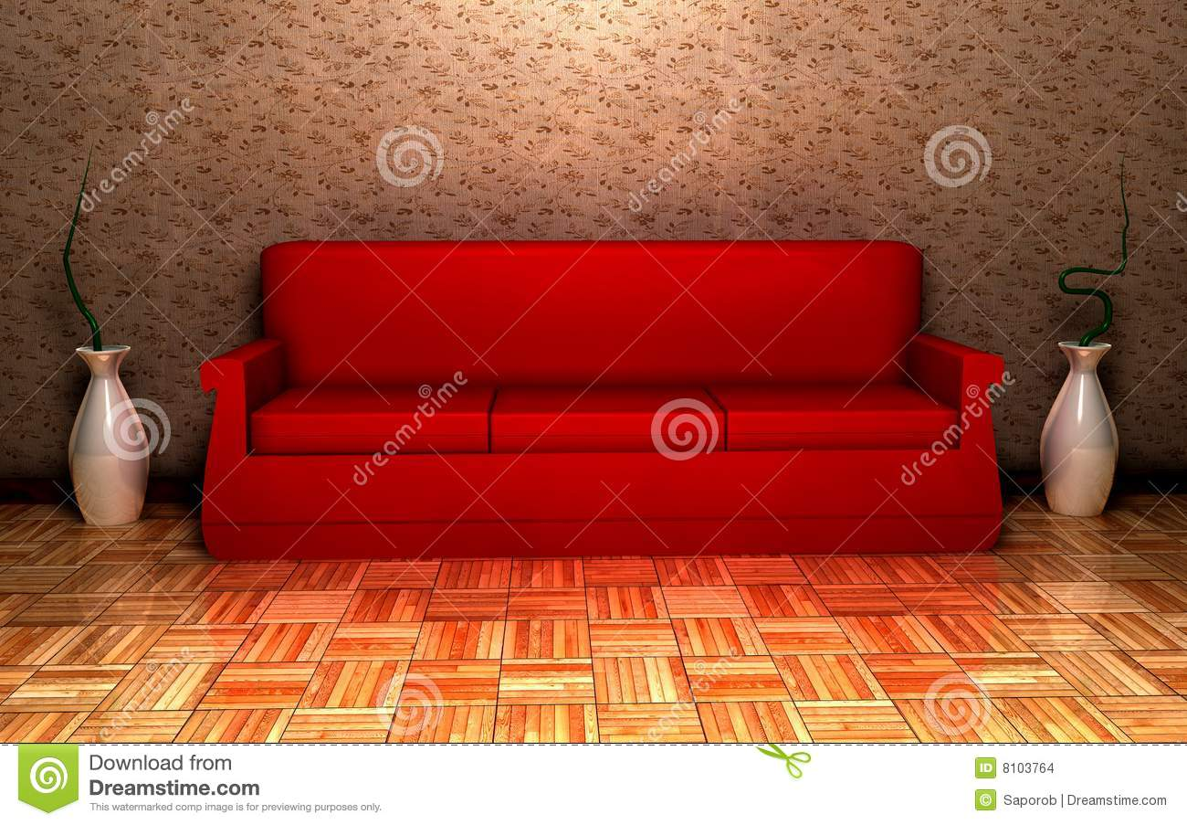 rotes sofa stockbilder bild 8103764. Black Bedroom Furniture Sets. Home Design Ideas