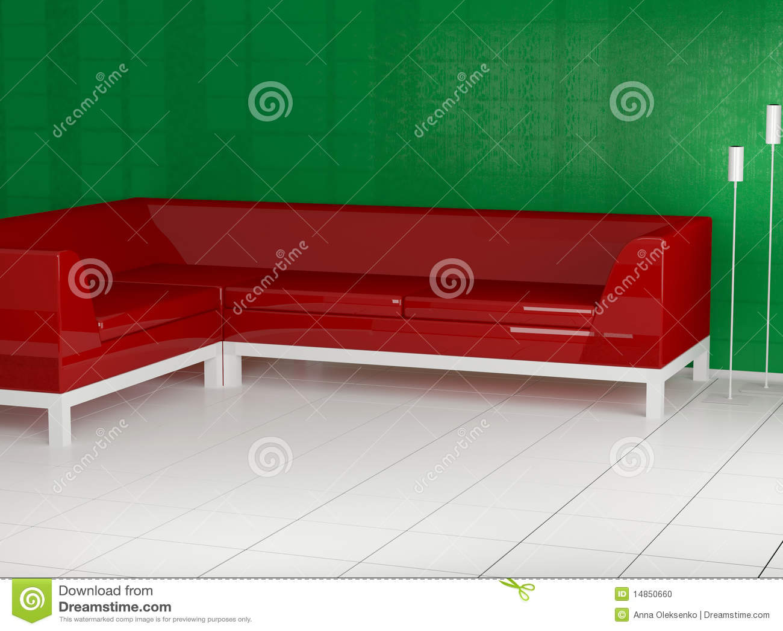 Rotes sofa im raum 3d stockfoto bild 14850660 for Sofa im raum