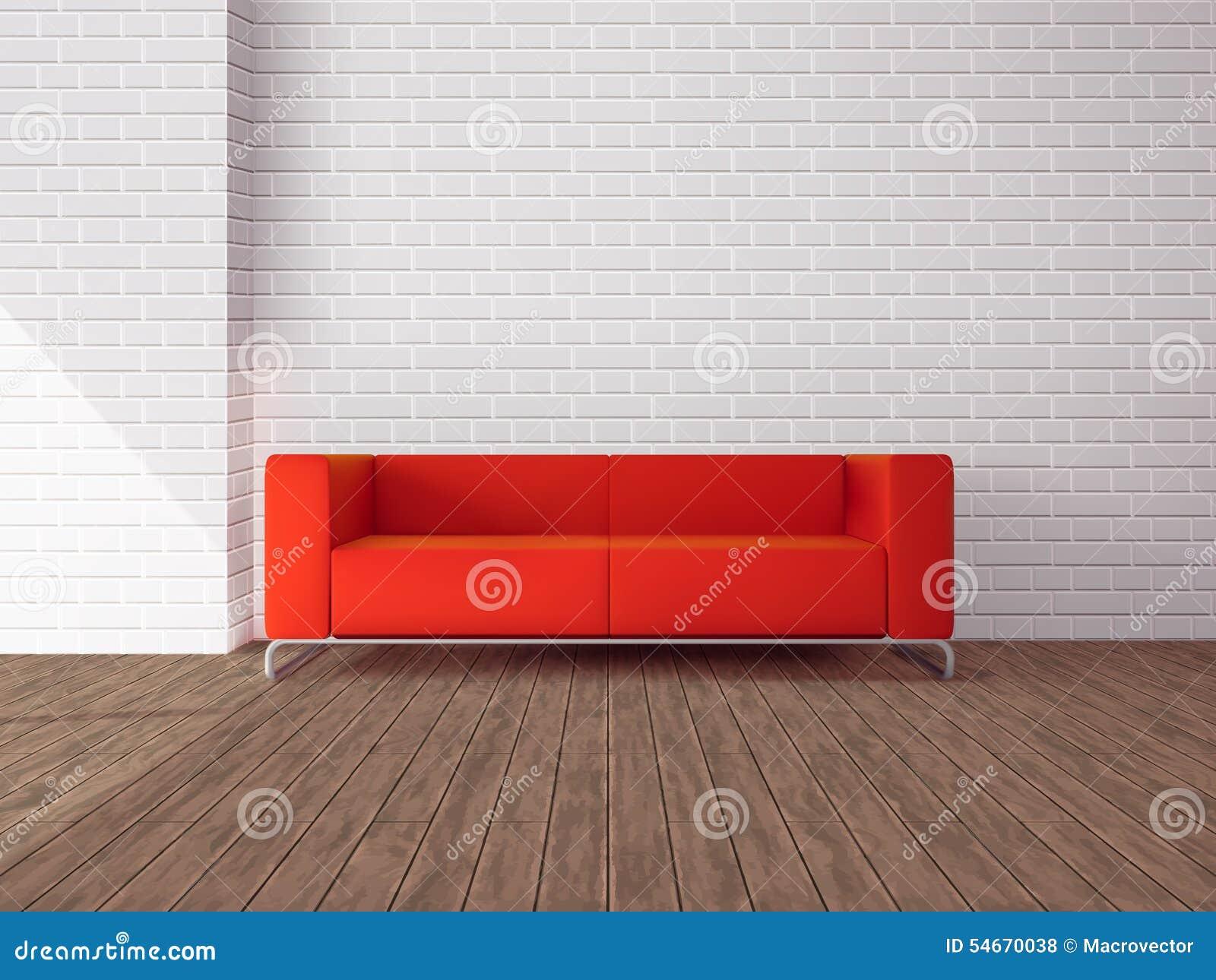 Rotes sofa im raum vektor abbildung image 54670038 for Sofa im raum