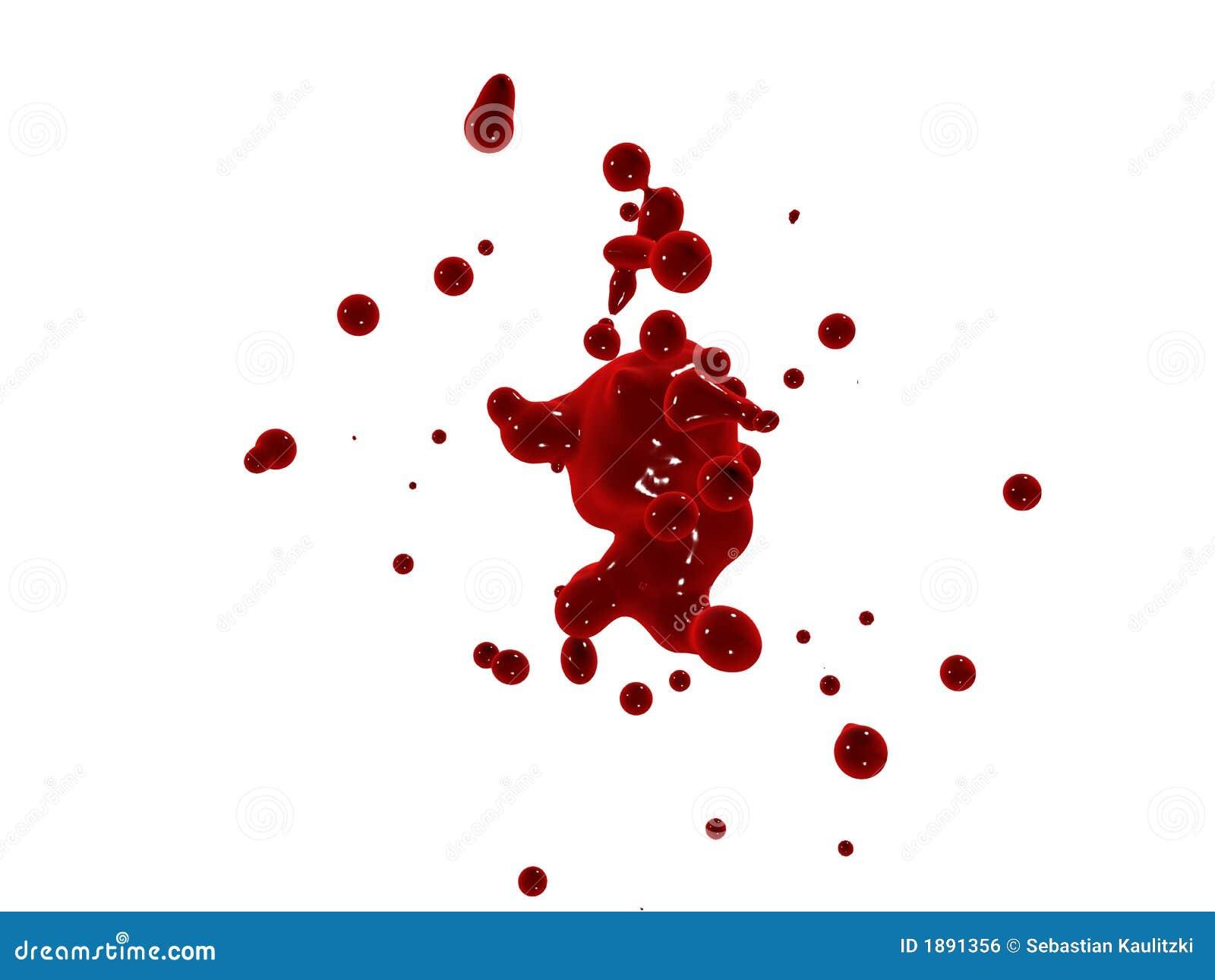 Rotes Spritzen