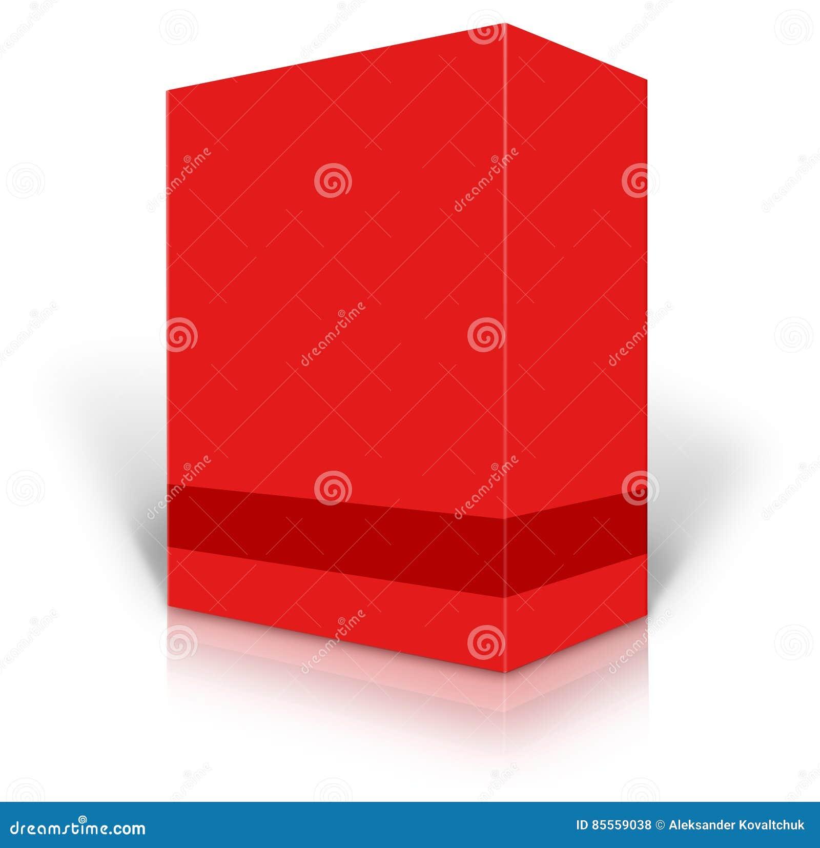 Rotes unbelegtes Kleinproduktpaket
