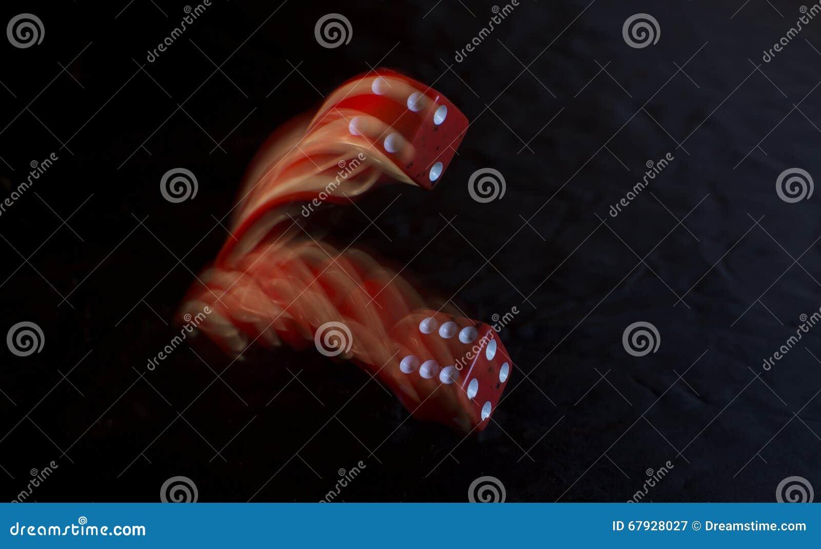 Rotes Würfel-Rollen