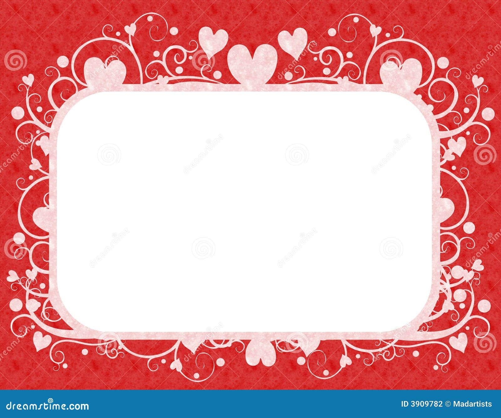 Rotes weißes Inner-Valentinstag-Feld