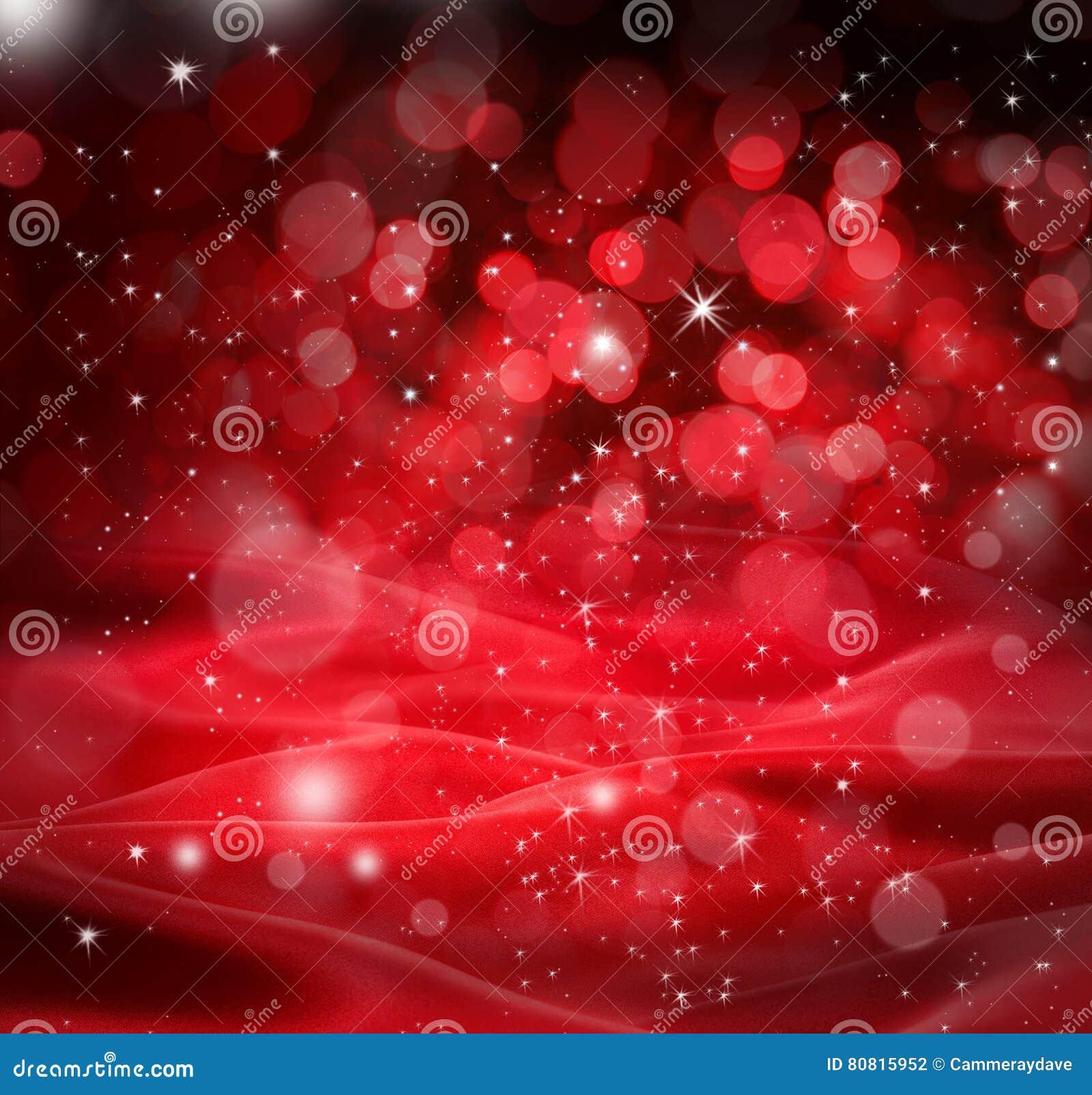 Rotes Weihnachten Stars Hintergrund