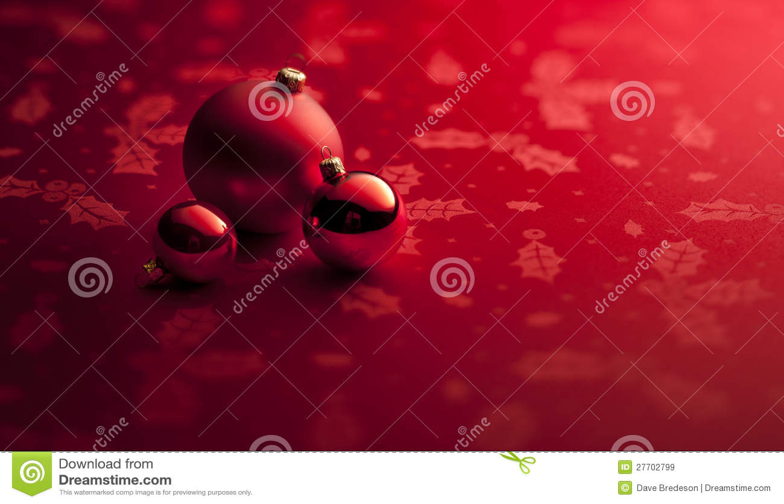 Rotes Weihnachten verziert Hintergrund