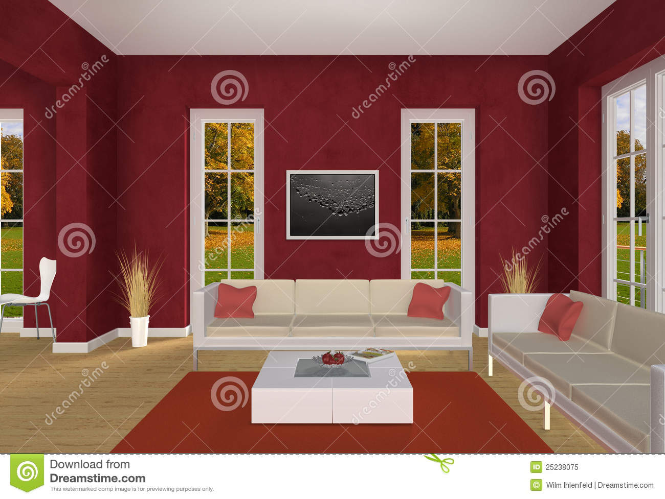 wohnzimmer mit rot. Black Bedroom Furniture Sets. Home Design Ideas