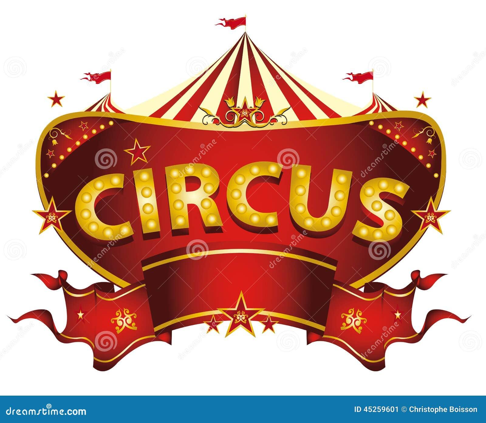 Rotes Zirkuszeichen