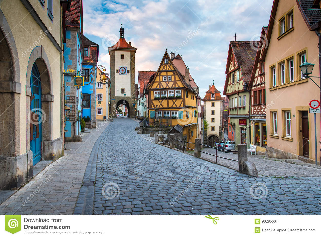 Rothenberg German Traditional House With Beautiful Sunrise Sky