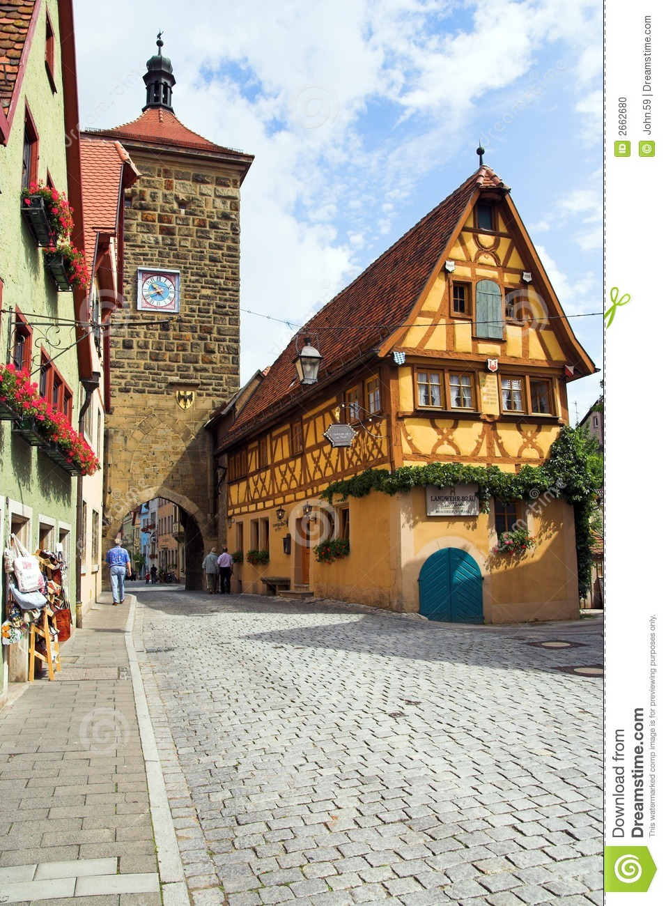 rothenburg ob der tauber stock photo image 2662680. Black Bedroom Furniture Sets. Home Design Ideas