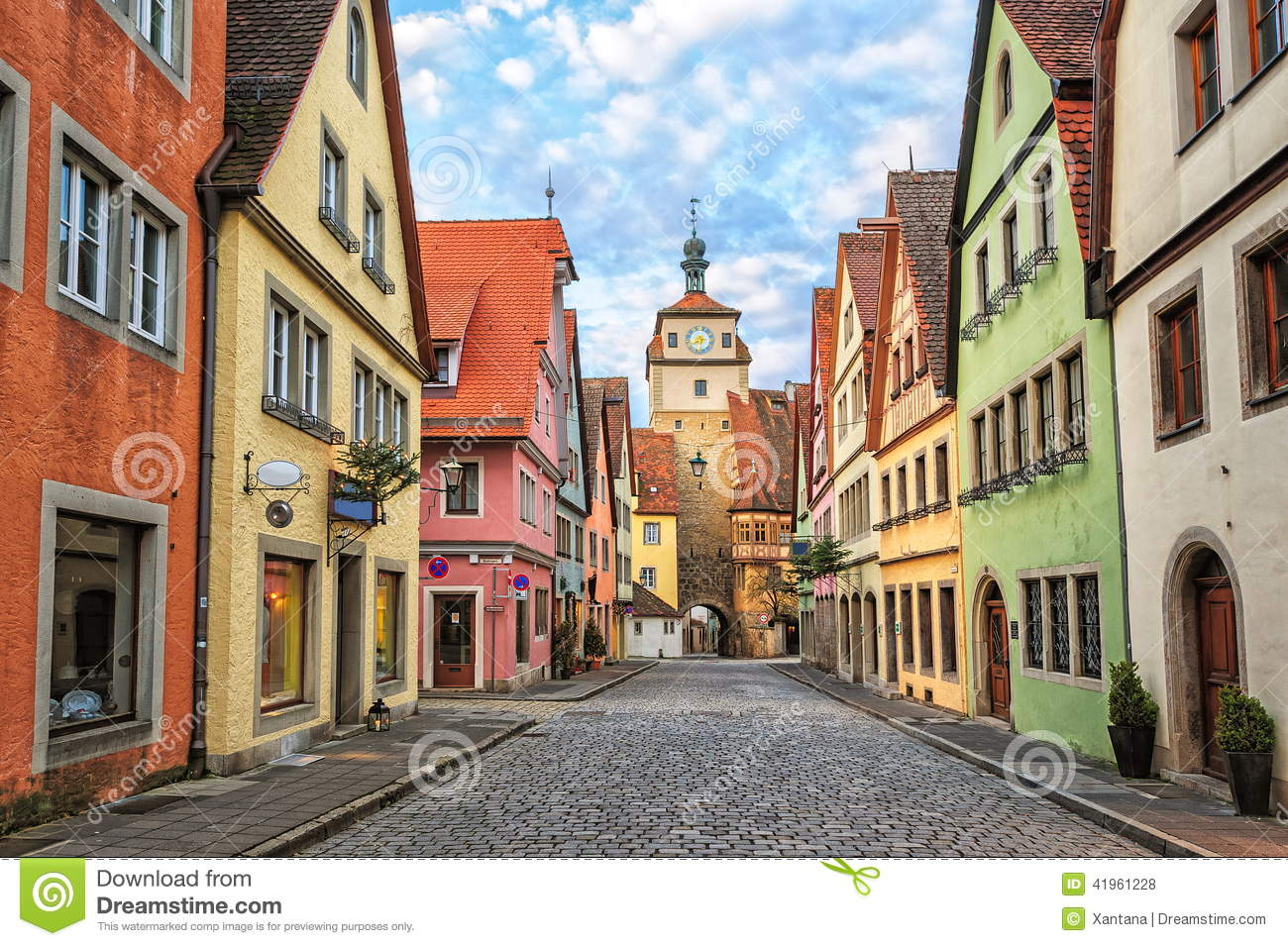 rothenburg ob der tauber germany stock photo image of gothic attraction 41961228. Black Bedroom Furniture Sets. Home Design Ideas
