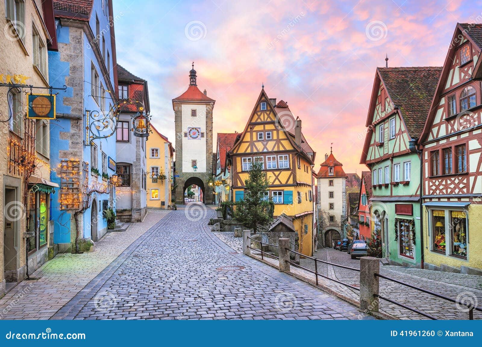 Rothenburg Ob Der Tauber Germany Stock Photo Image